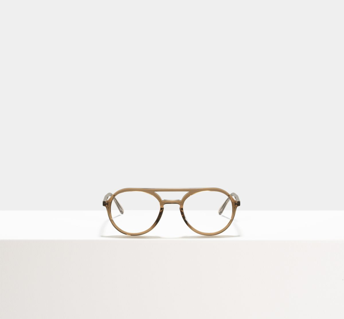 Paul round acetate glasses in Golden Brown by Ace & Tate