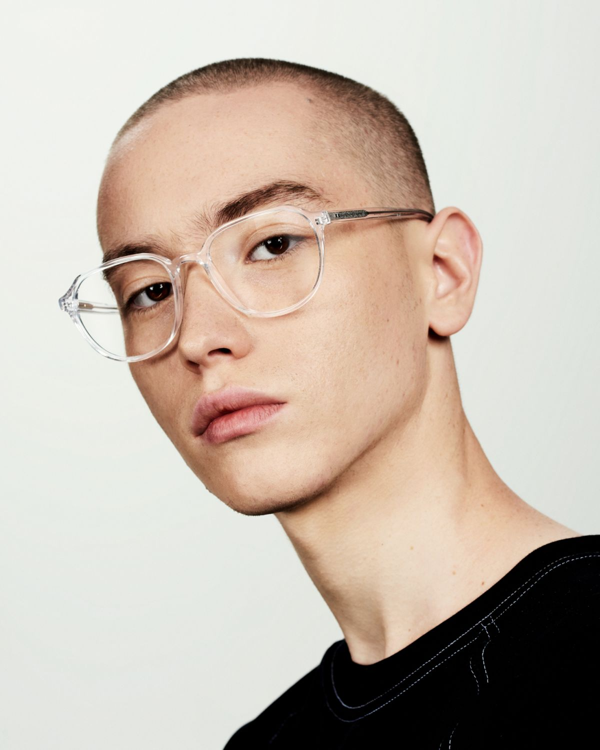 Stan round acetate glasses in Crystal by Ace & Tate