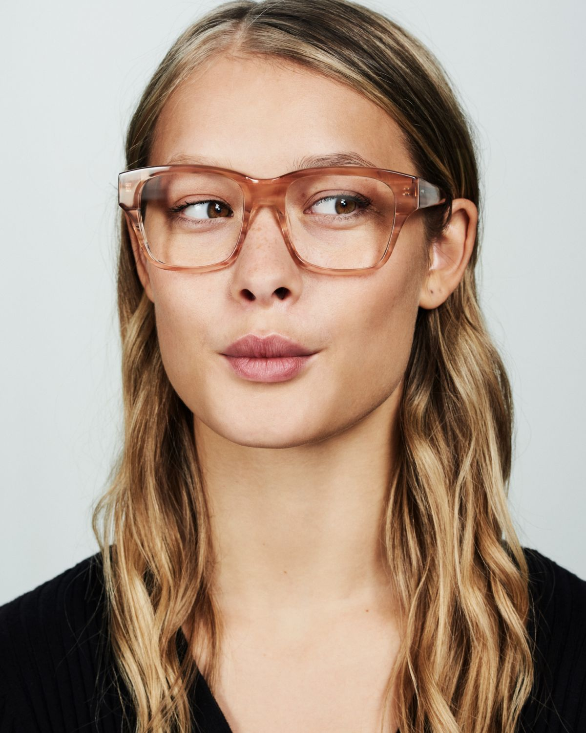 Matt square acetate glasses in Sunset by Ace & Tate