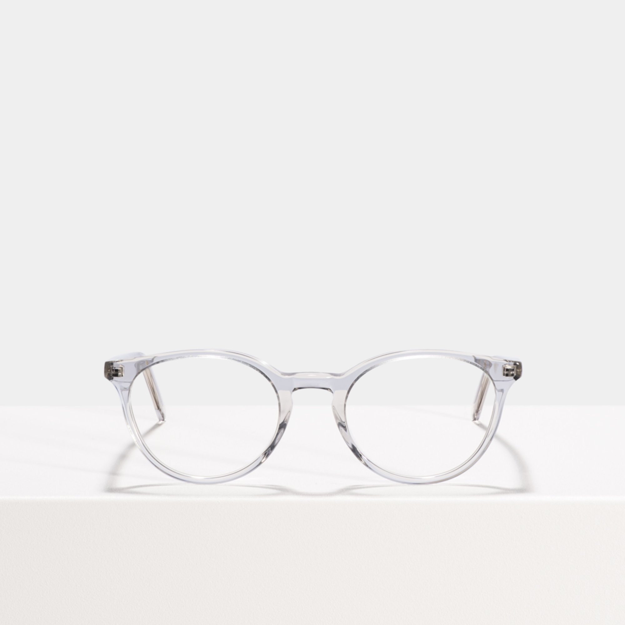 Ace & Tate Glasses | round acetate in Clear, Grey