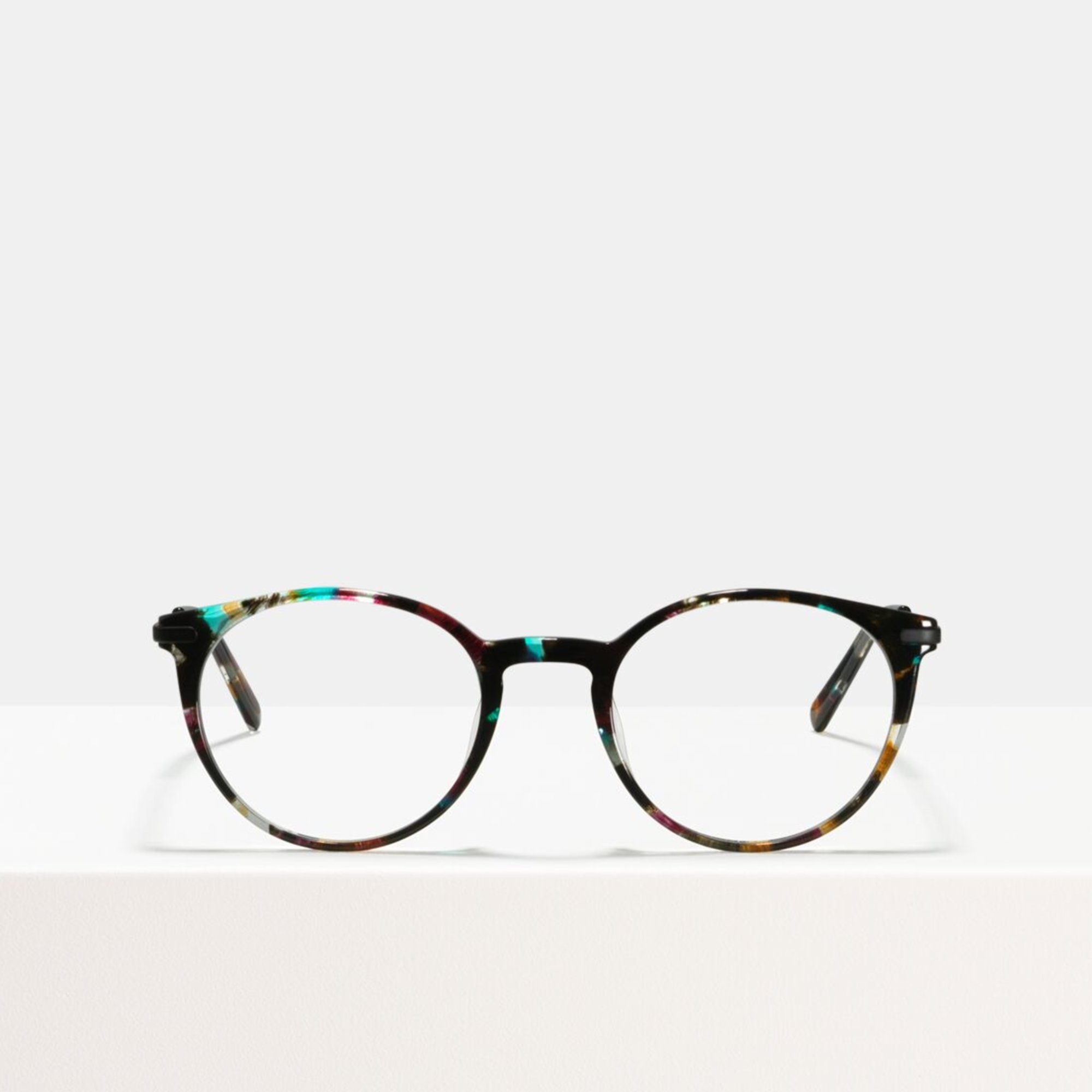 Ace & Tate Glasses | round acetate in Black, Blue, Brown, Pink