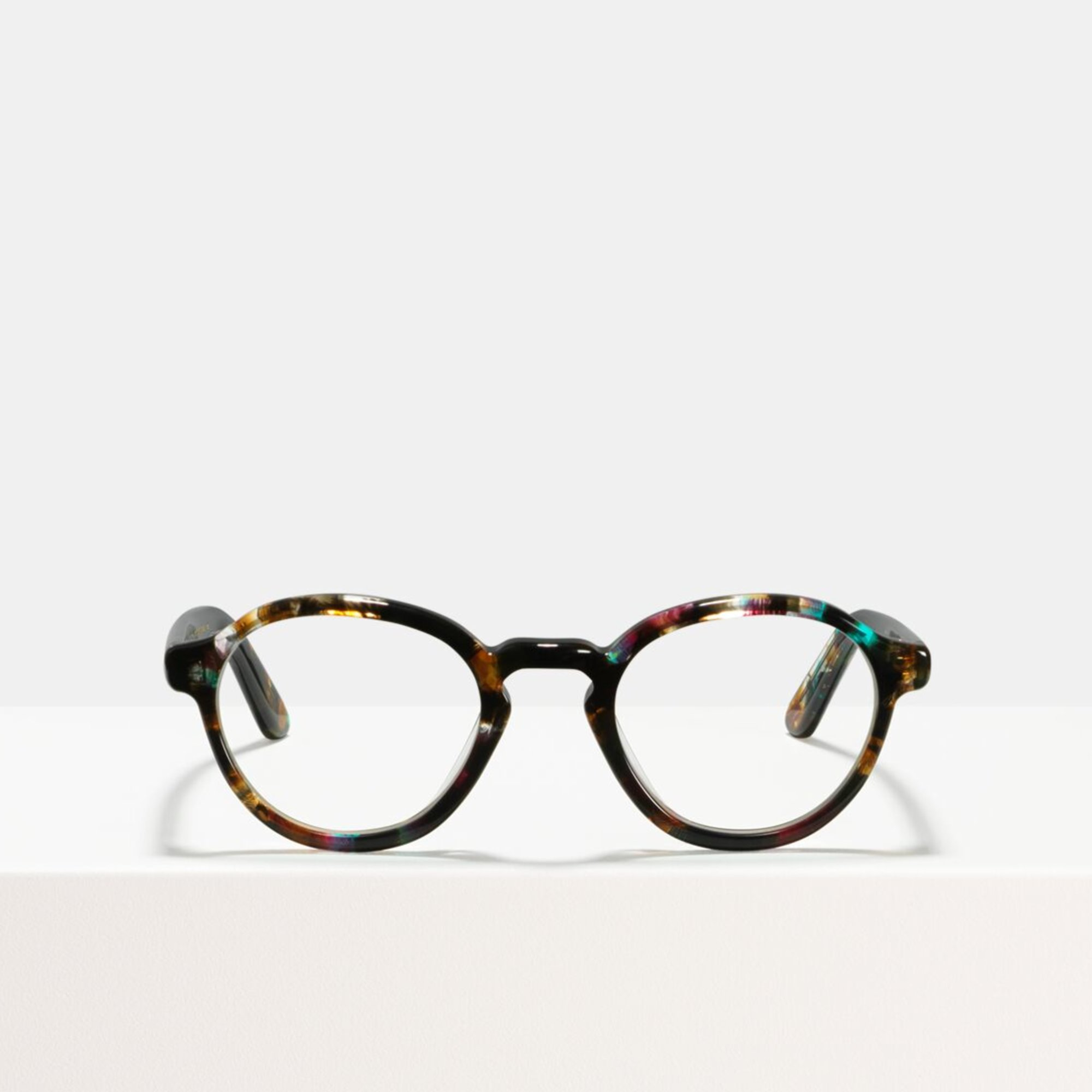 Ace & Tate Glasses | round acetate in Brown, Black, Blue, Pink