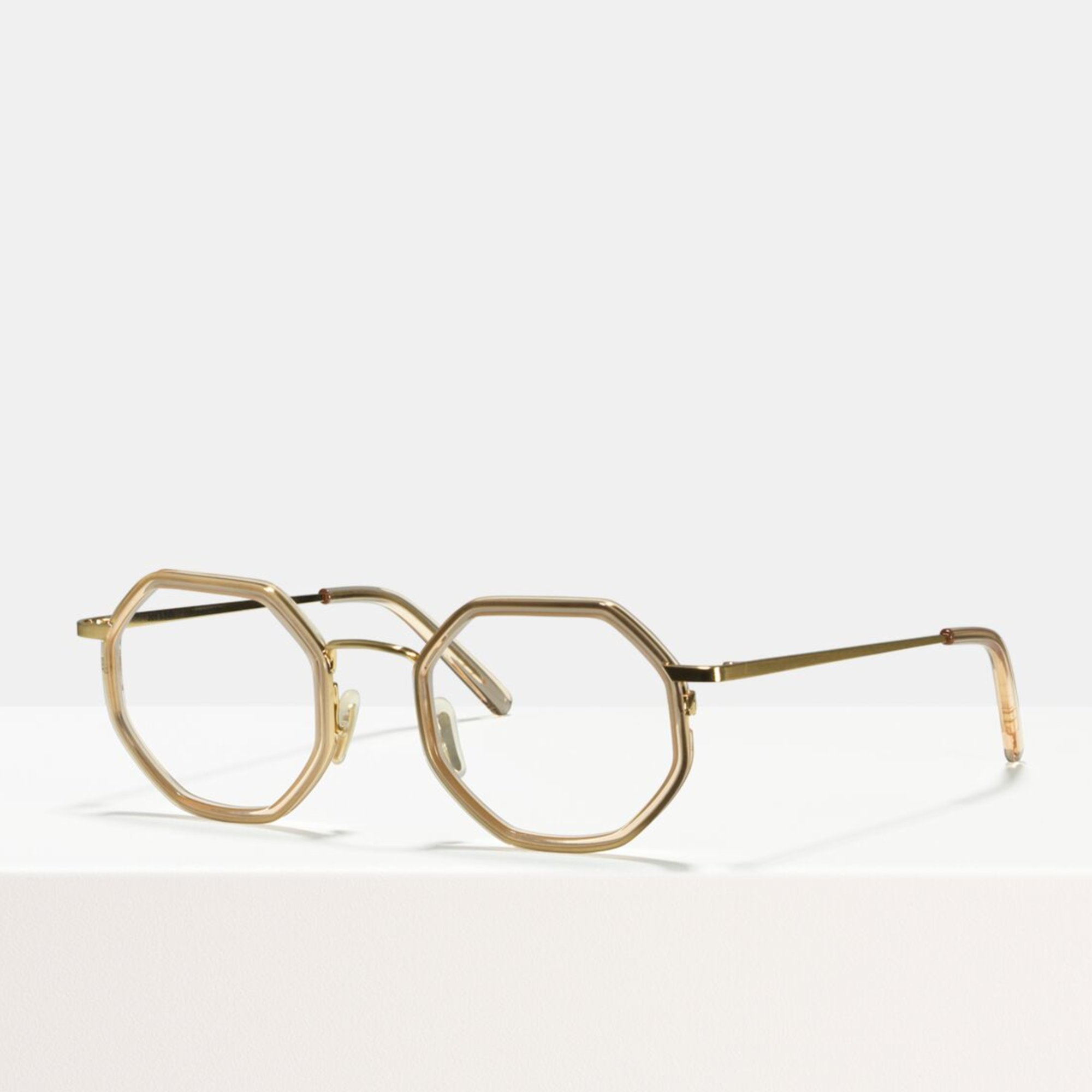 Ace & Tate Glasses |  acetate in Clear, Gold
