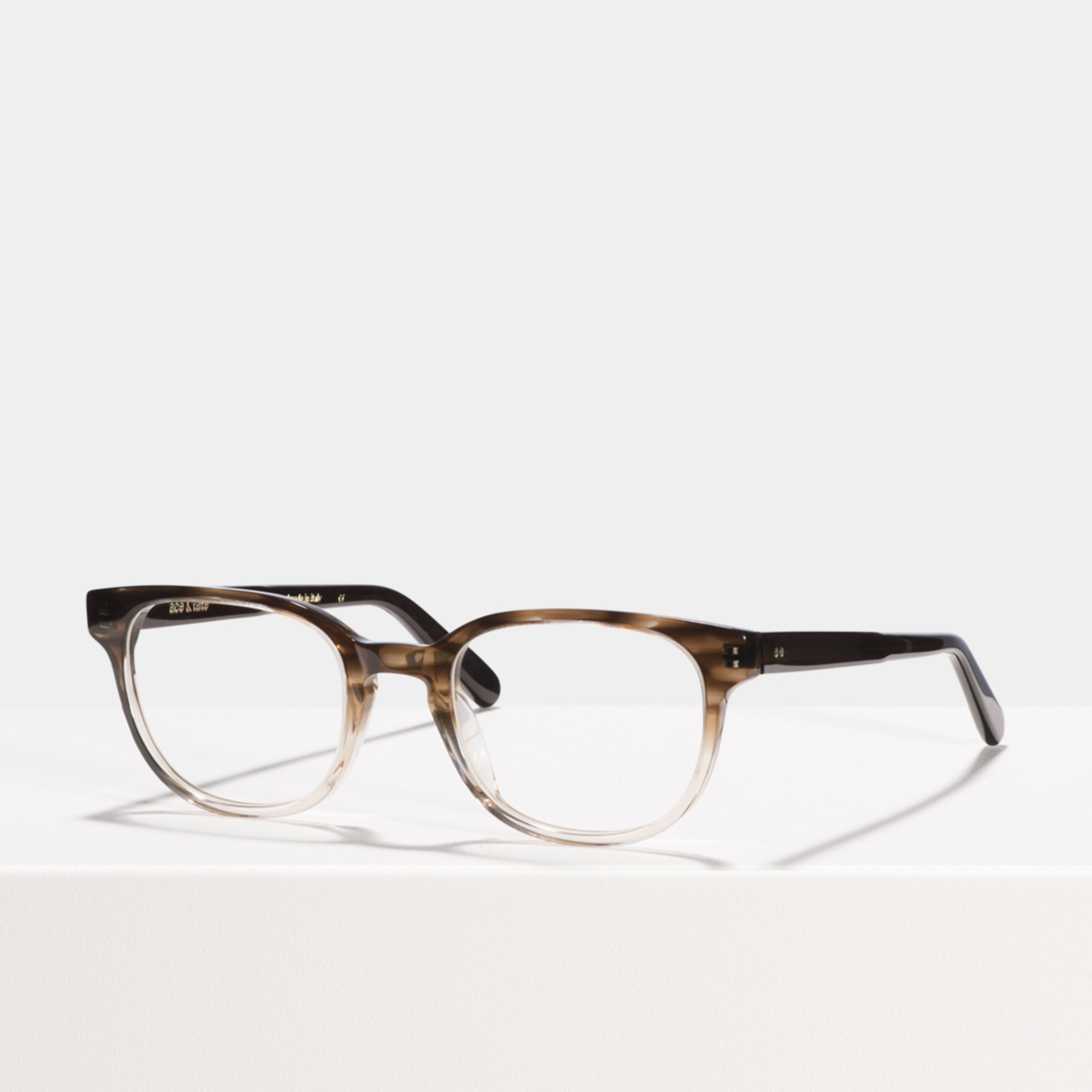 Ace & Tate Glasses |  acetate in Brown, Clear