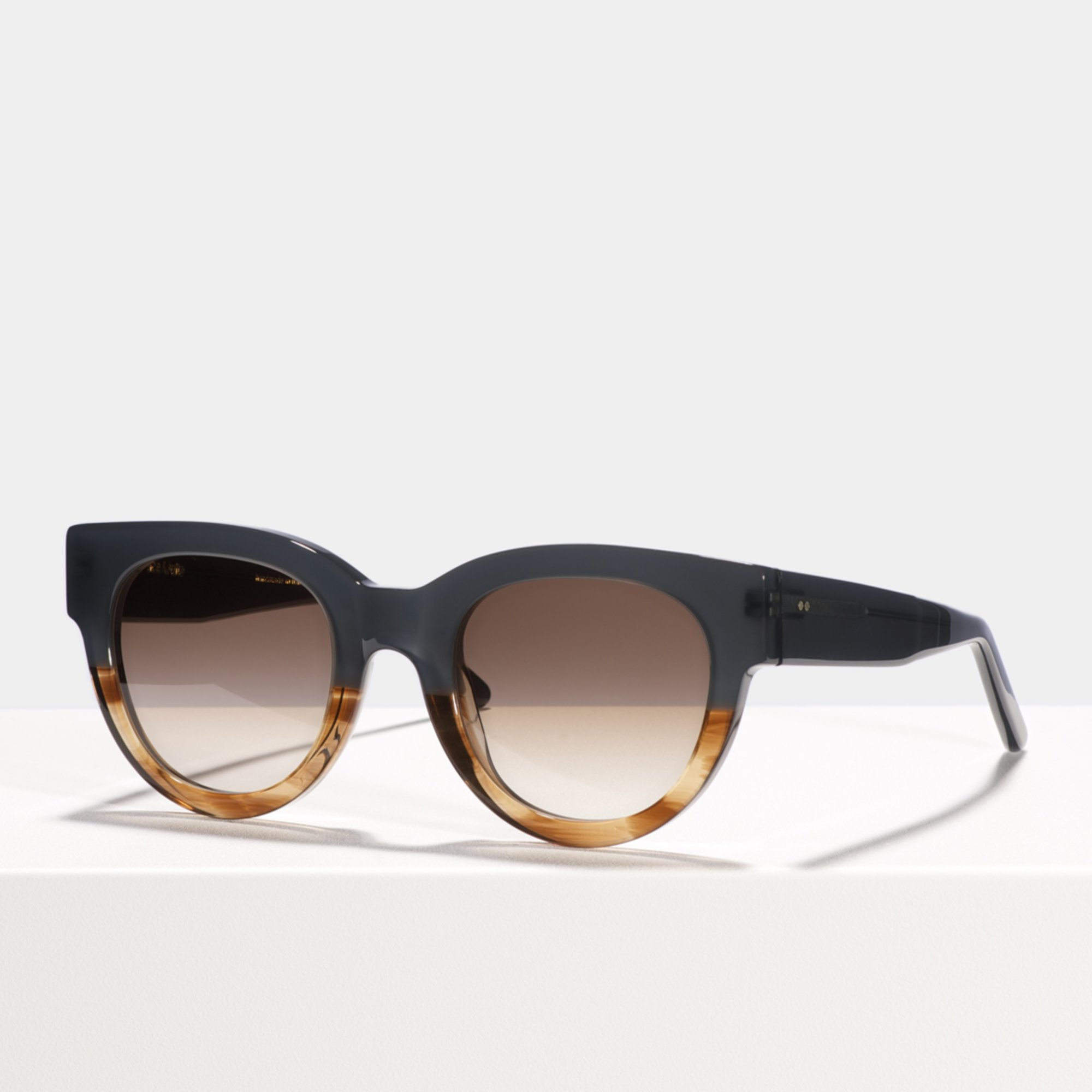 Ace & Tate Sunglasses   round acetate in Brown, Green