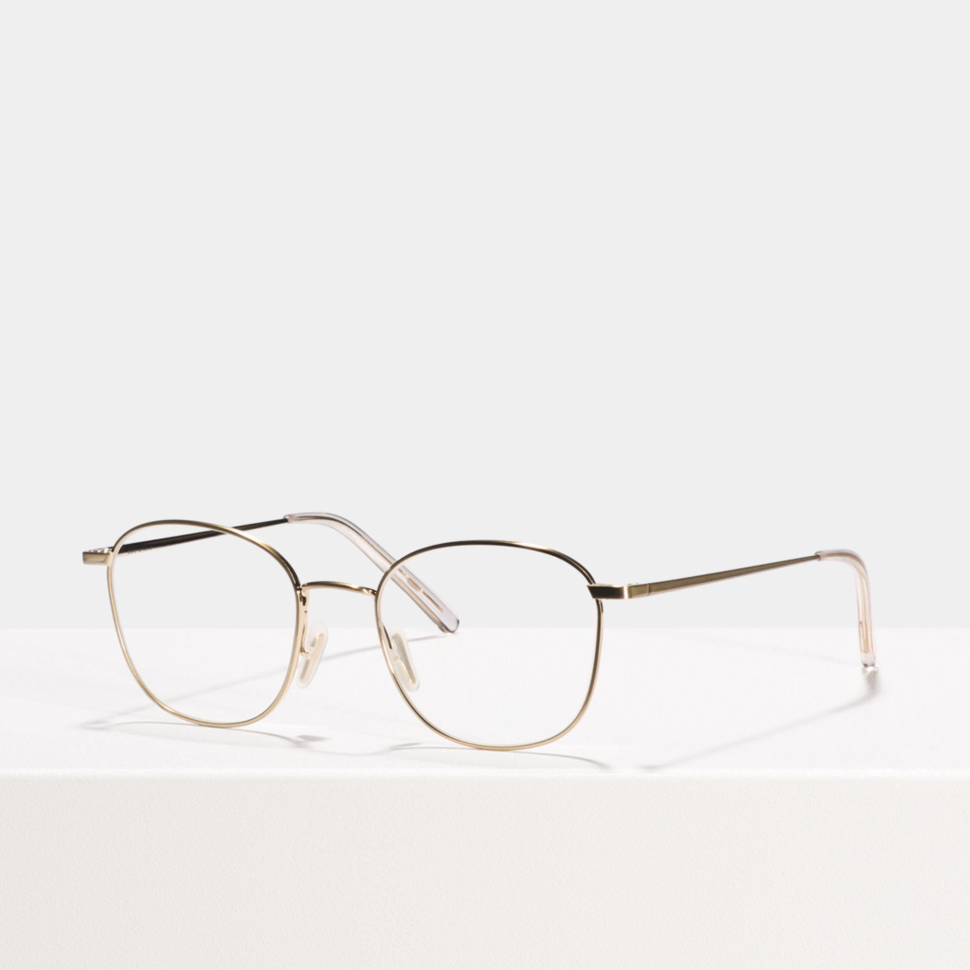 Ace & Tate Glasses | square metal in Gold