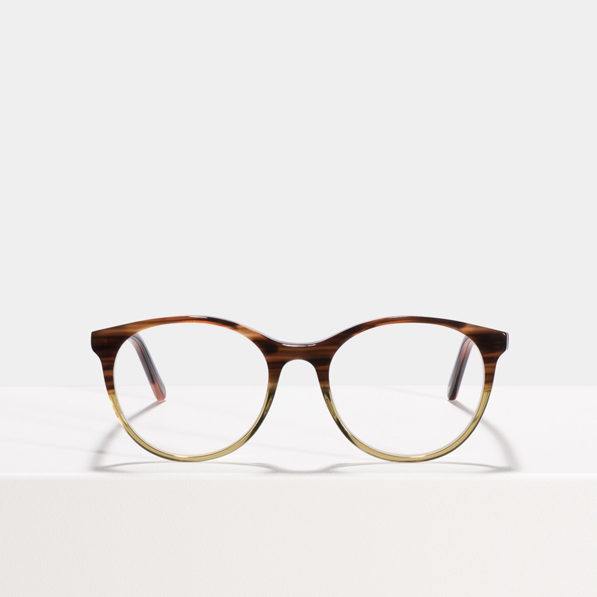Ace & Tate Glasses | rund Acetat in Braun, Grün