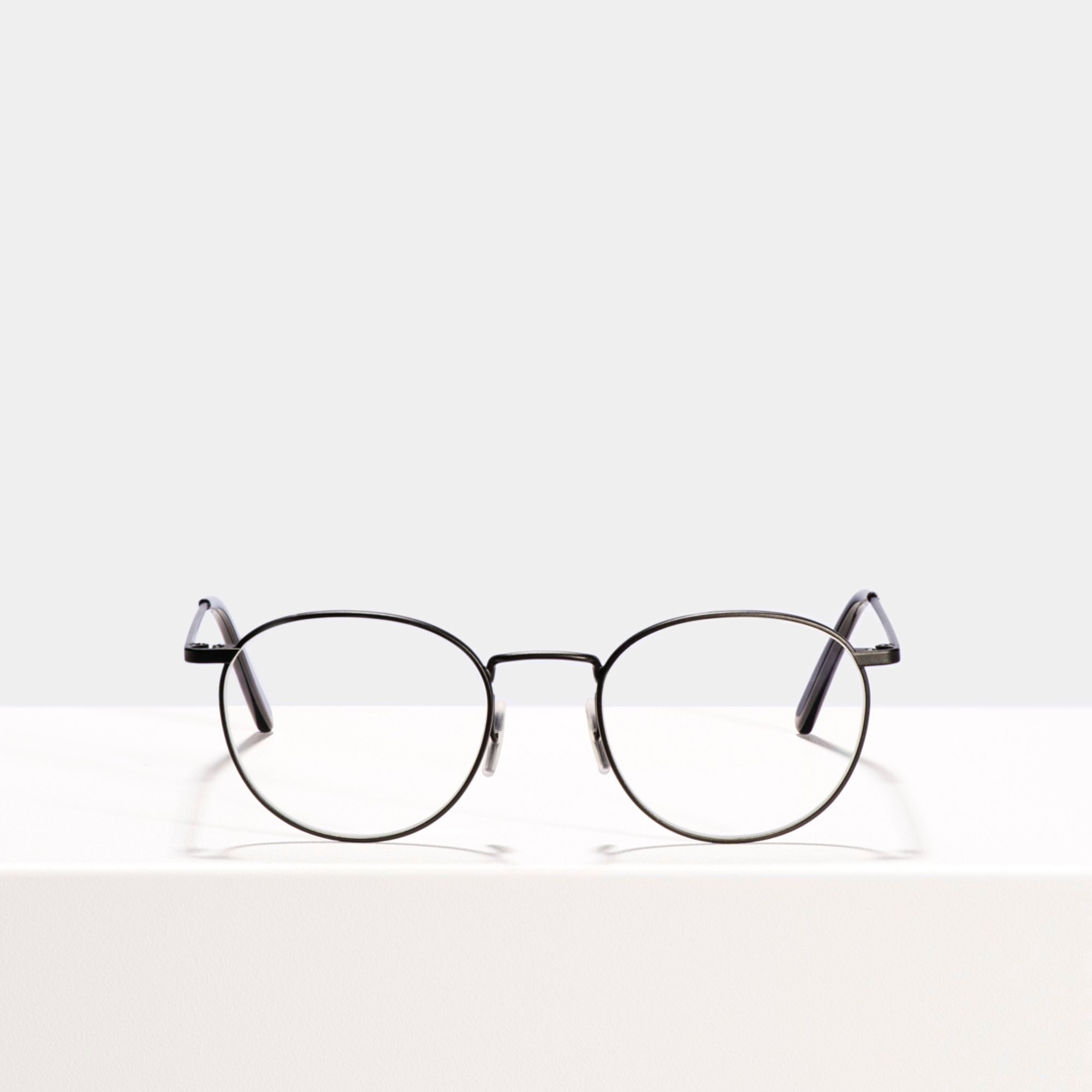 Ace & Tate Glasses | rond metaal in Zwart