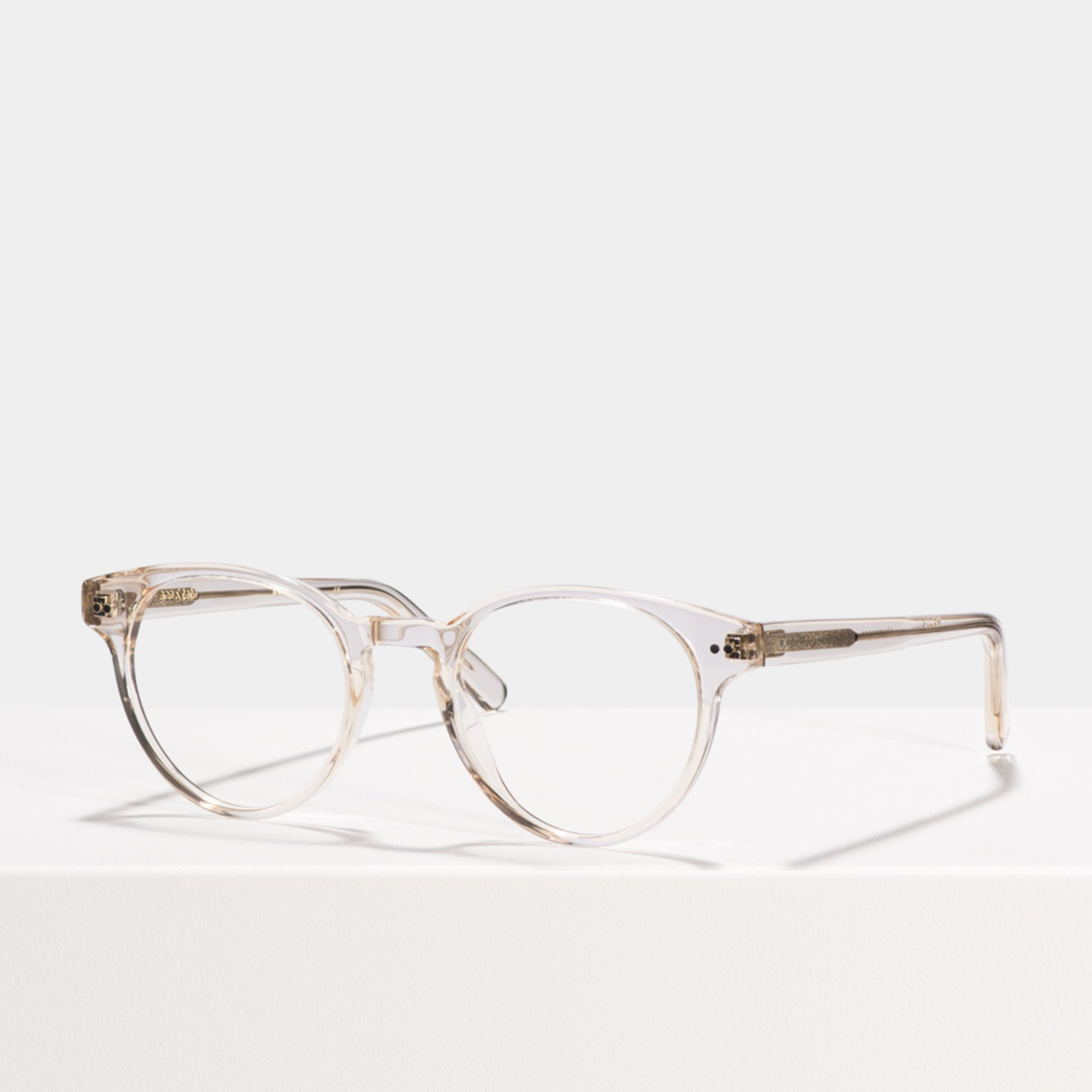 Ace & Tate Glasses | ronde acétate in Clair