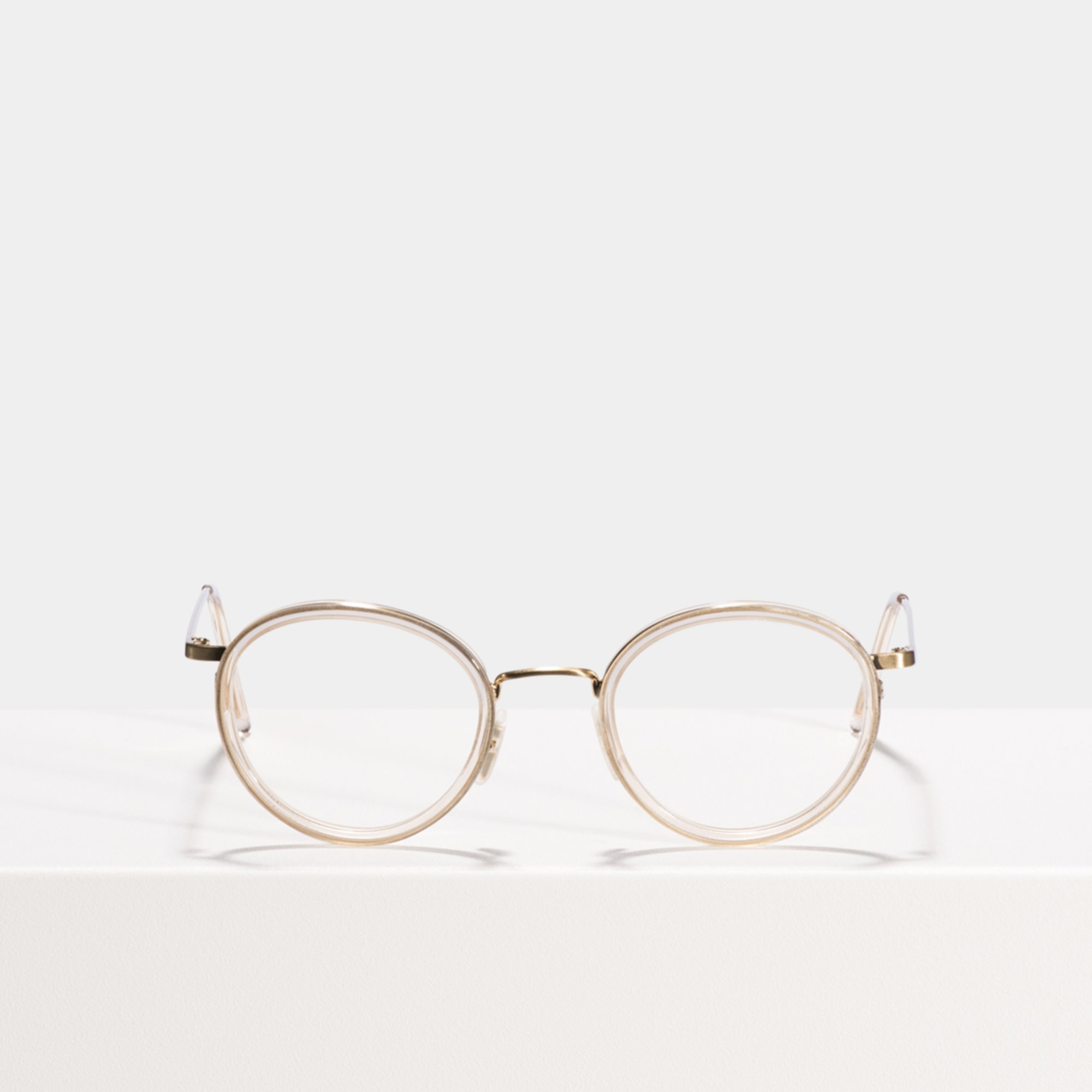 Ace & Tate Glasses | round acetate in Clear