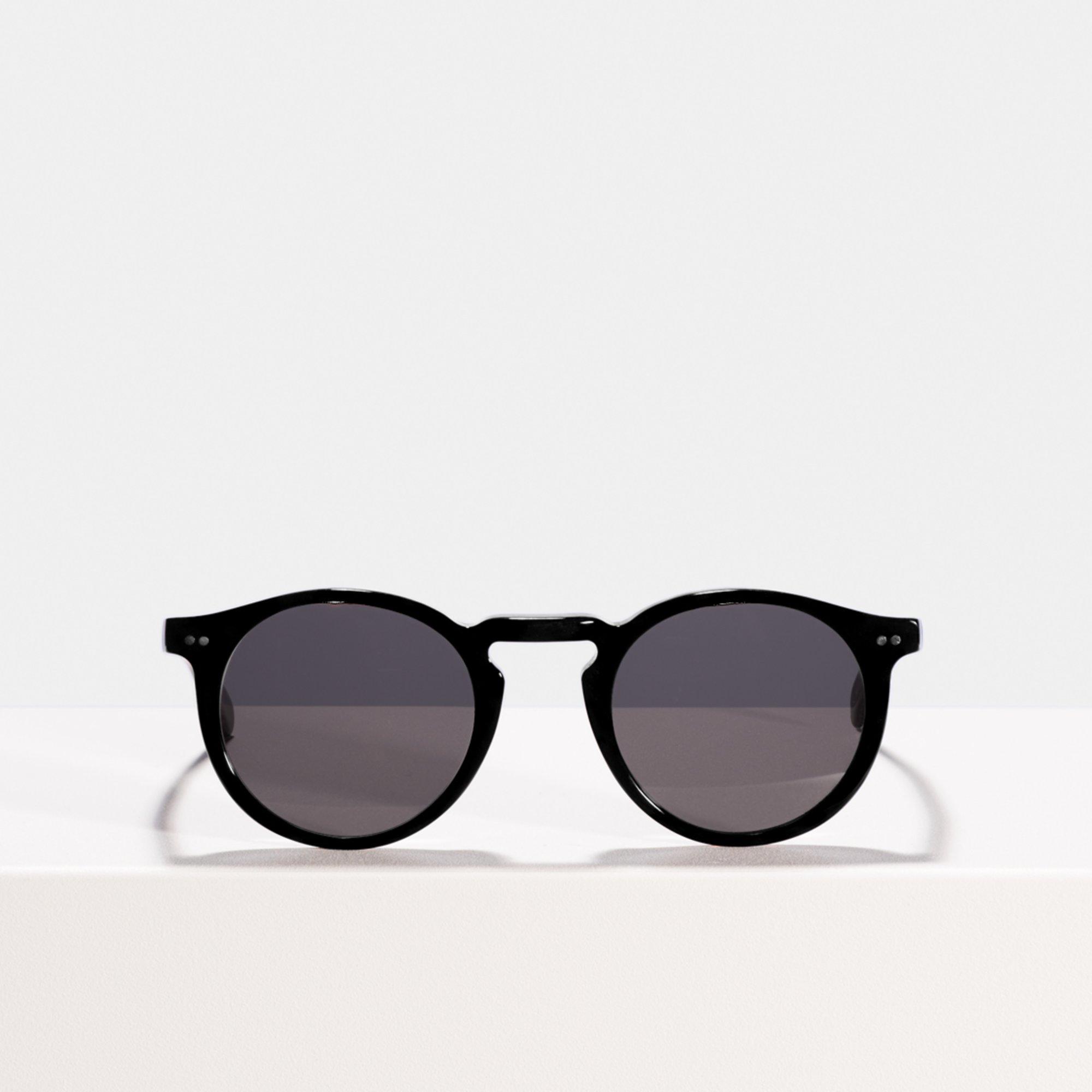 Ace & Tate Sunglasses | round acetate in Black