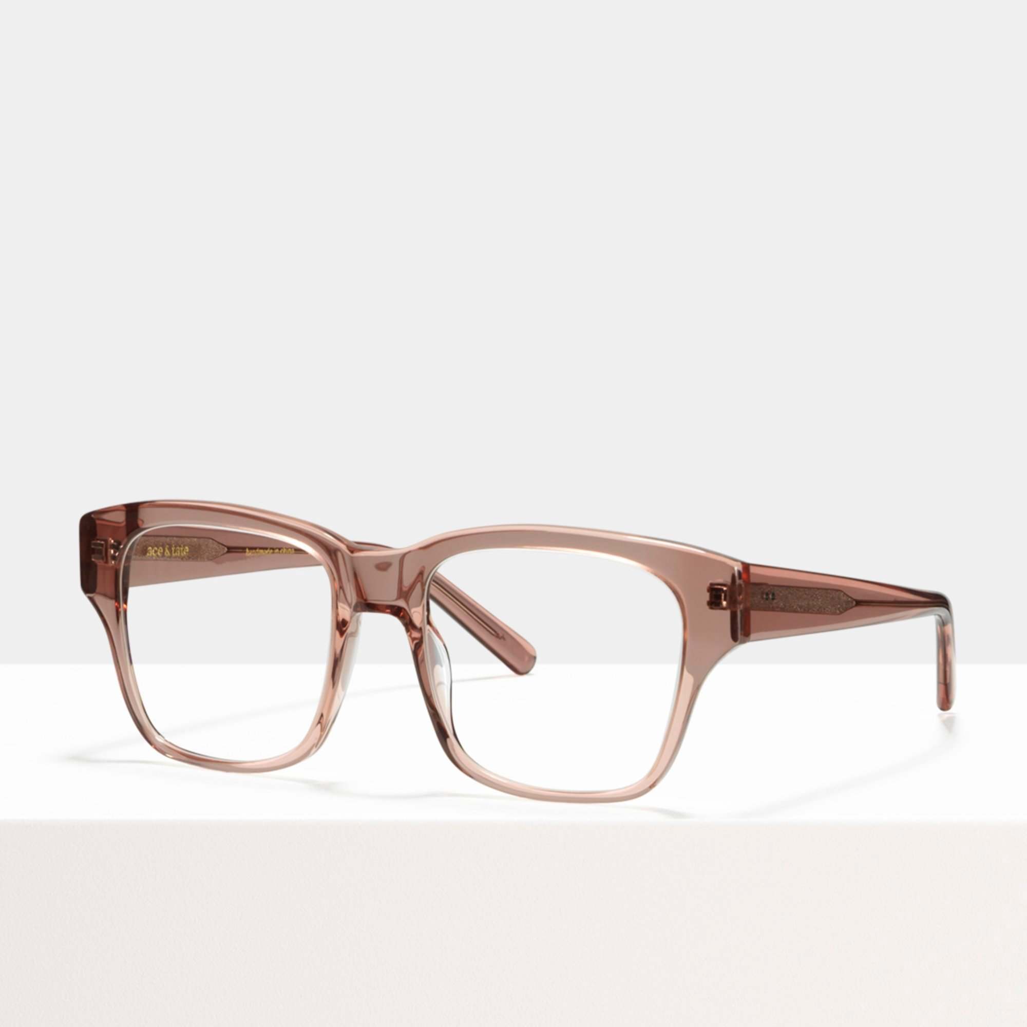 Ace & Tate Glasses | square acetate in Pink