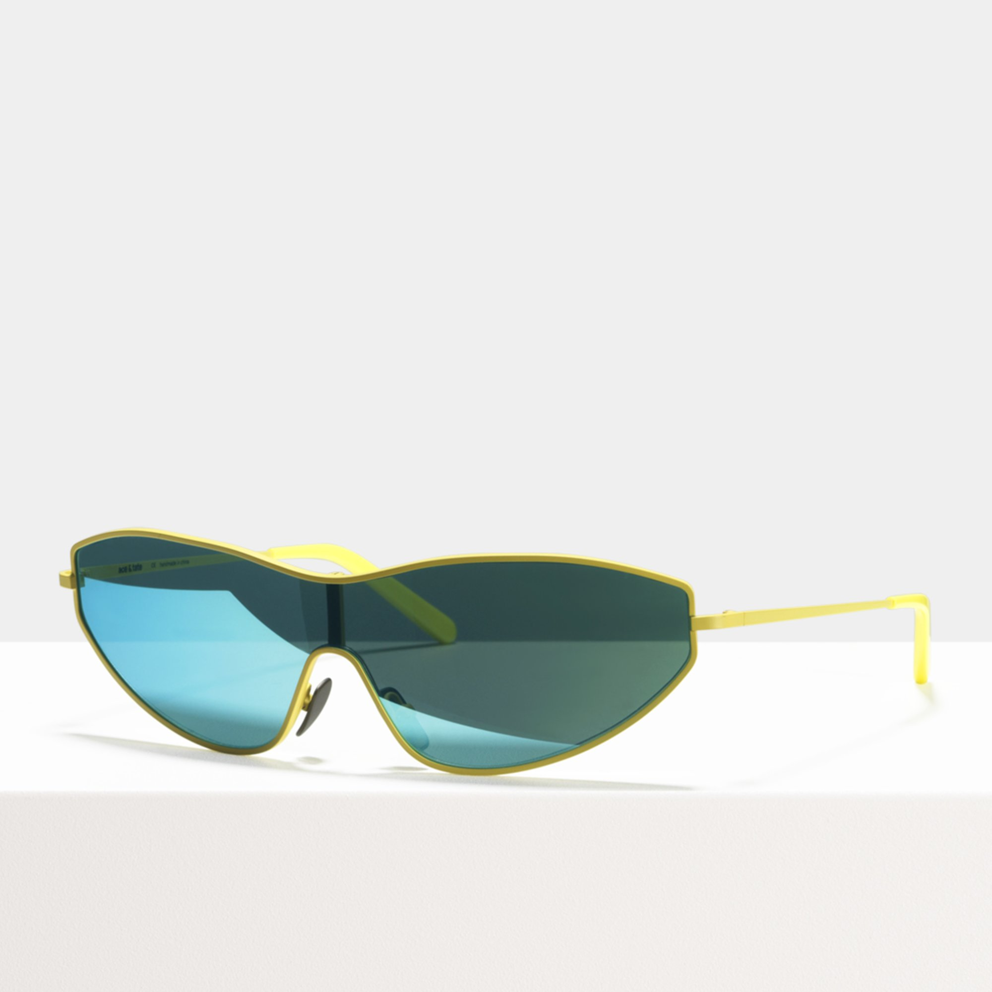 Ace & Tate Sunglasses | rectangle metal in Yellow