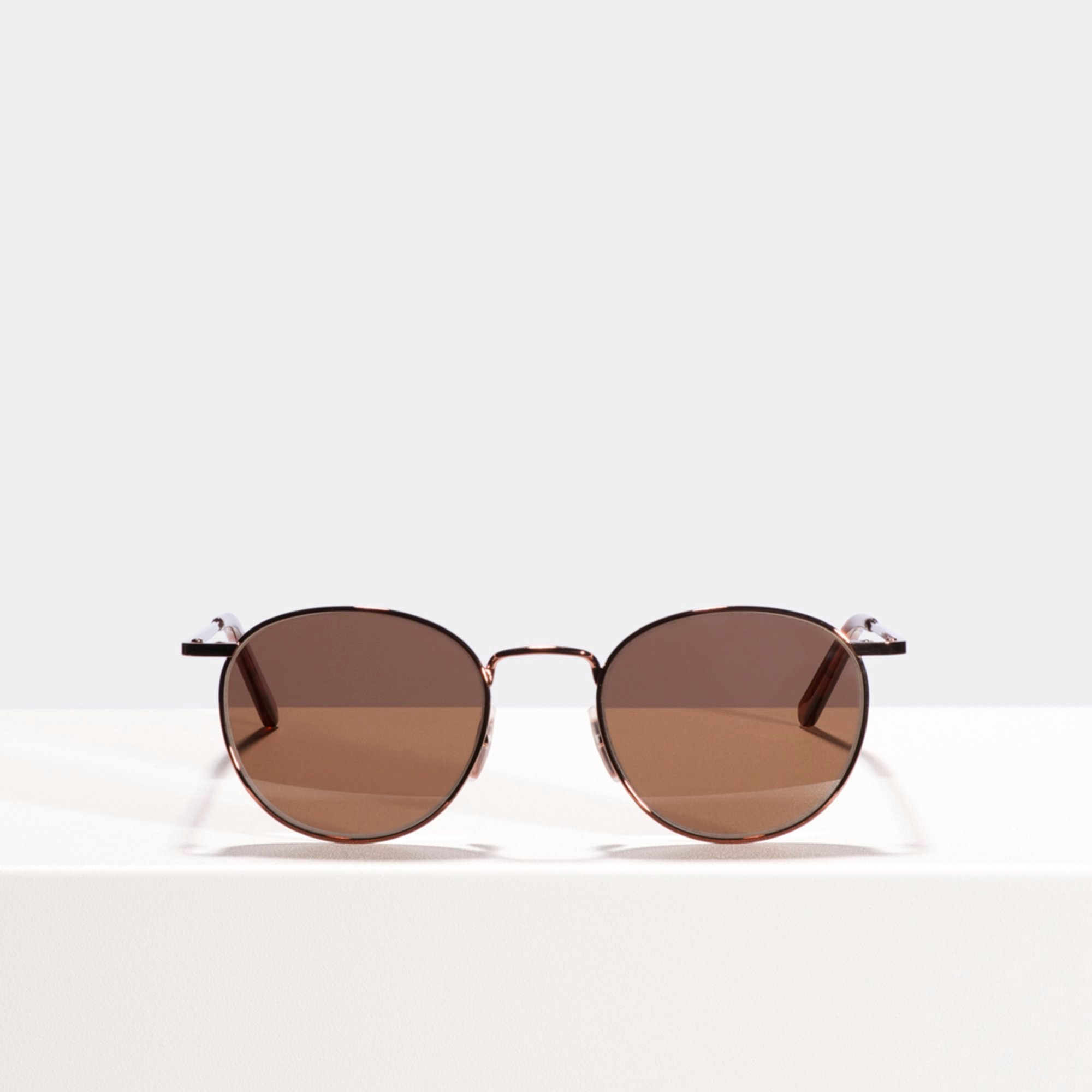 Ace & Tate Sunglasses | round metal in Red, Brown