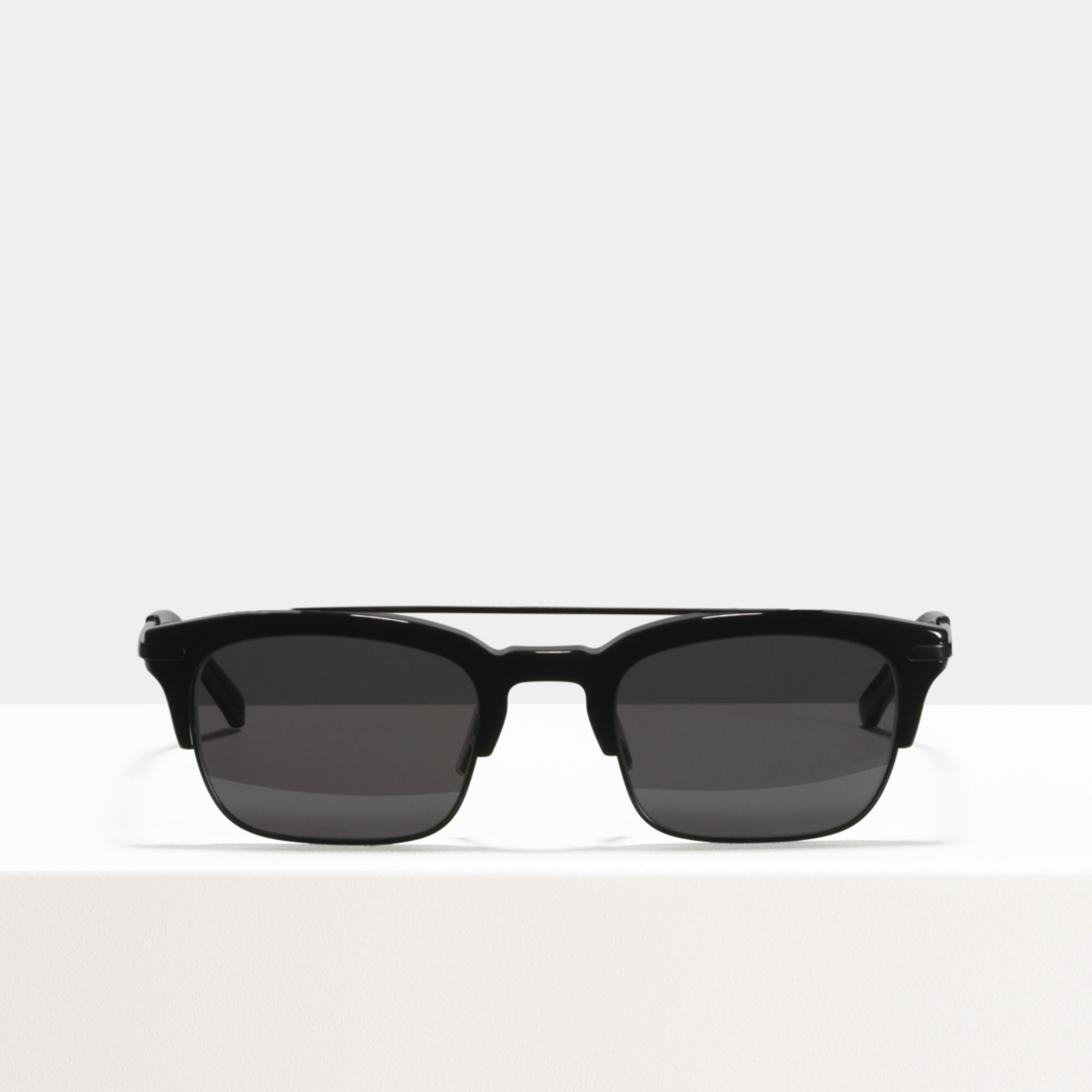 Ace & Tate Sunglasses | rectangle acetate in Black