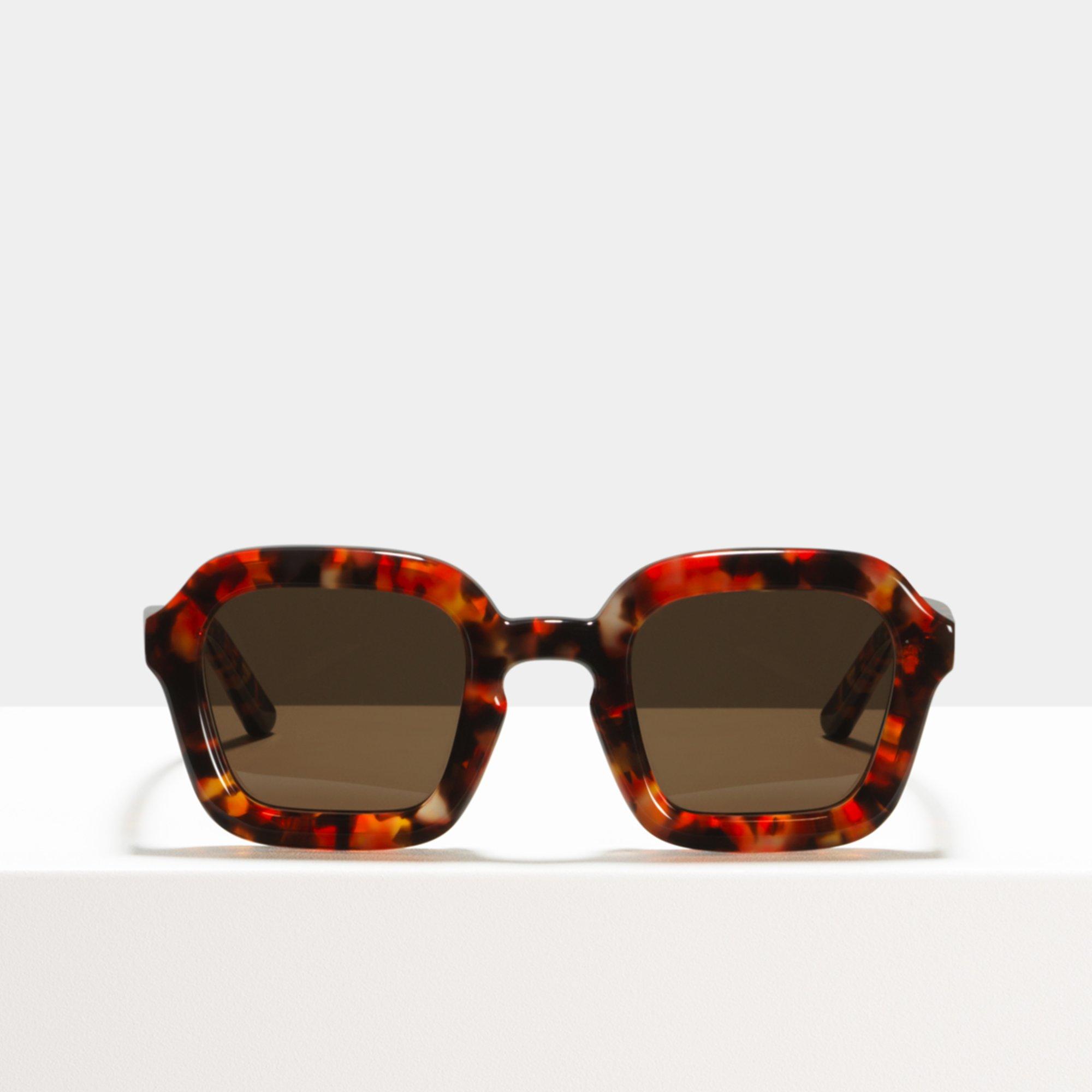 Ace & Tate Sunglasses | square acetate in Orange, Red
