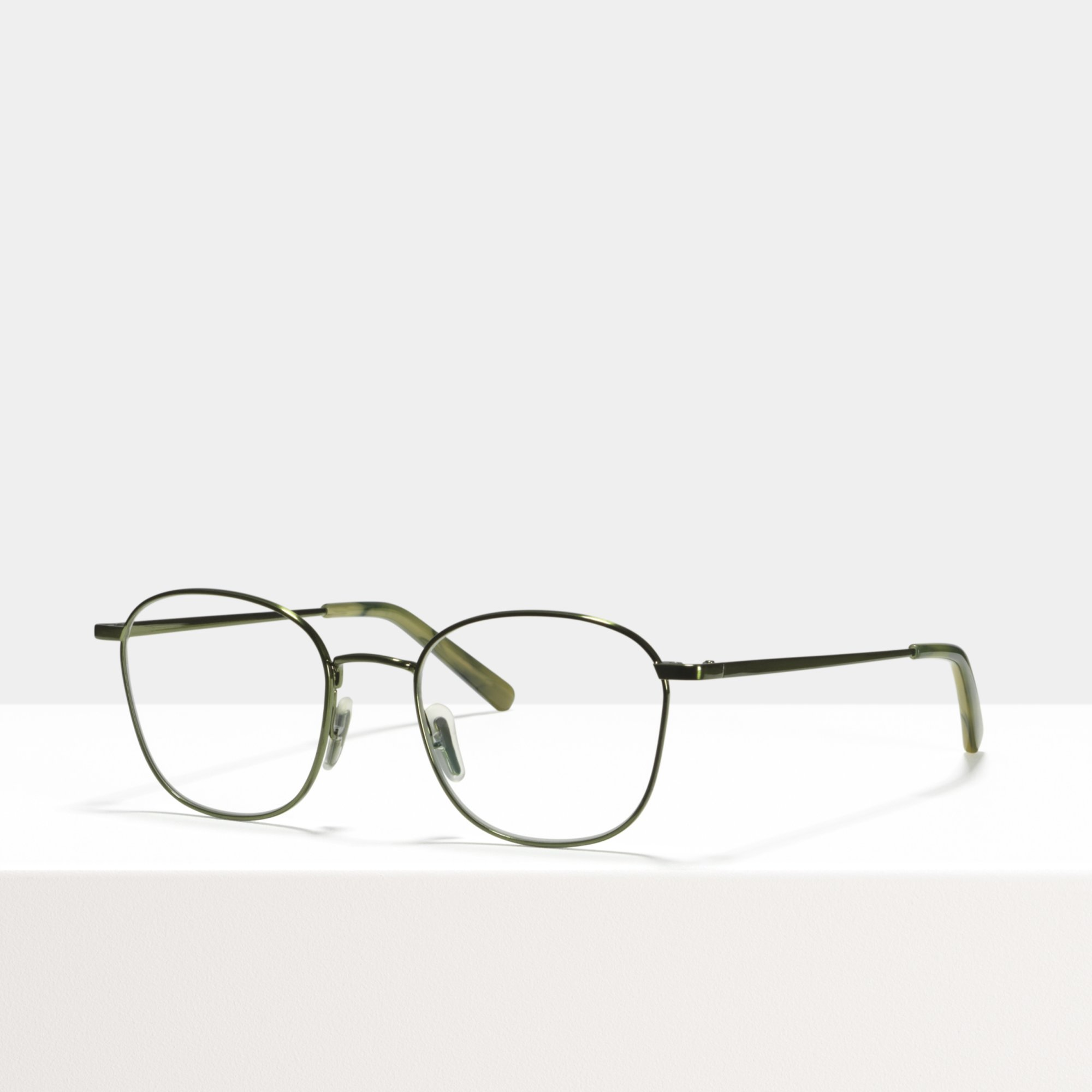 Ace & Tate Glasses | square metal in Green