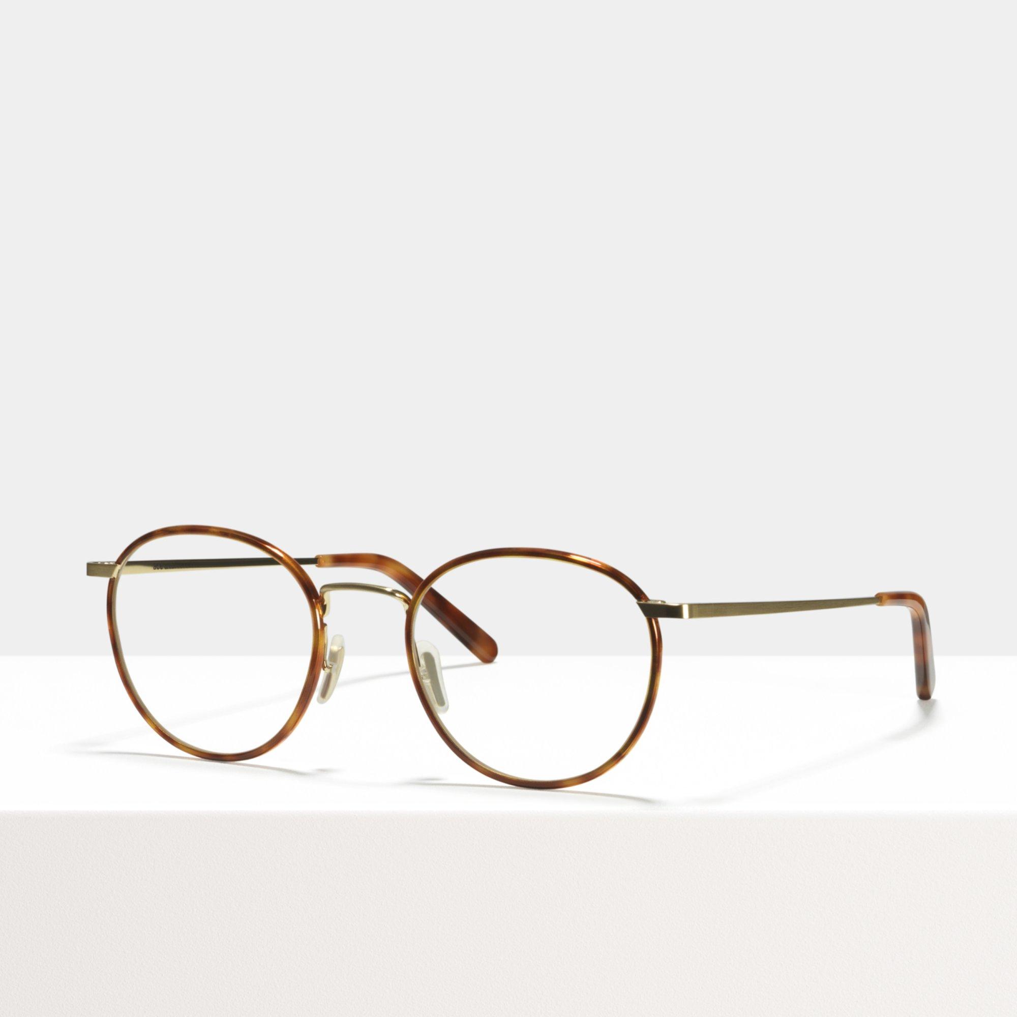 Ace & Tate Glasses | round metal in Brown, Gold, Orange