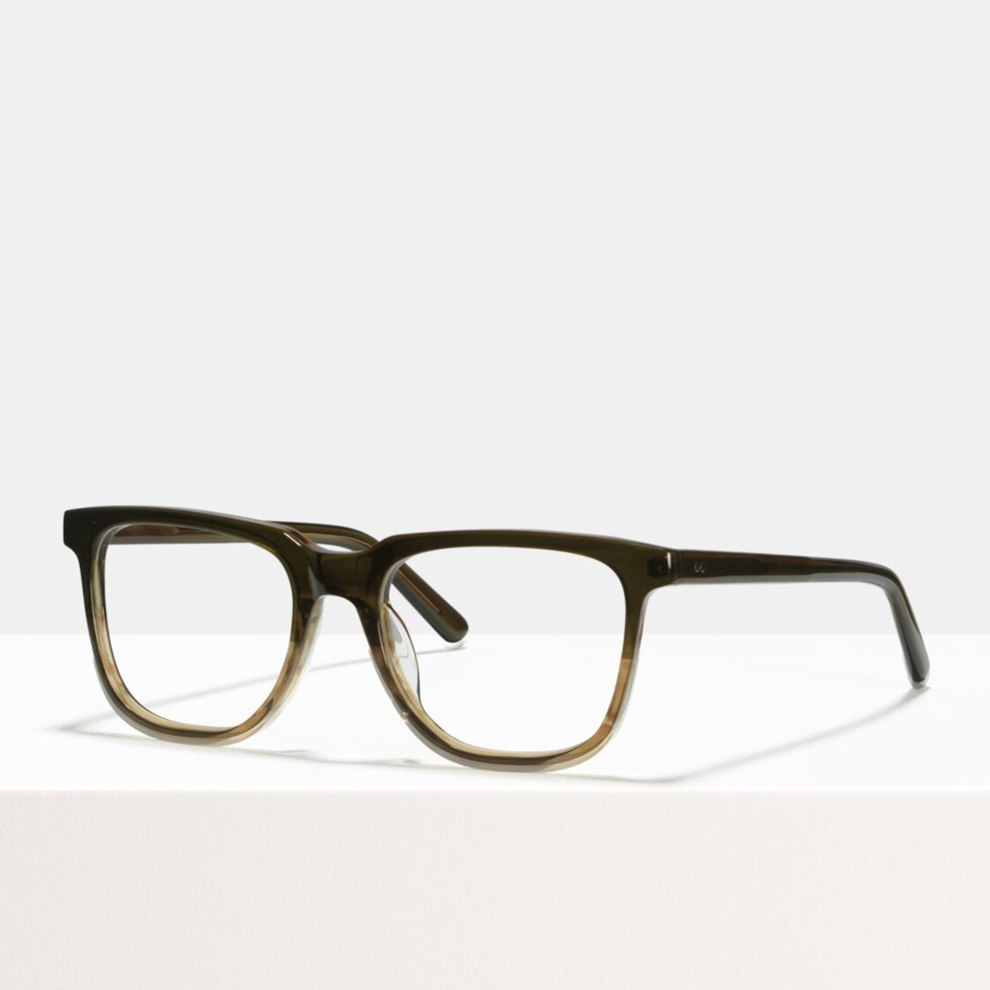 Ace & Tate Glasses | rectangle acetate in Brown, Green