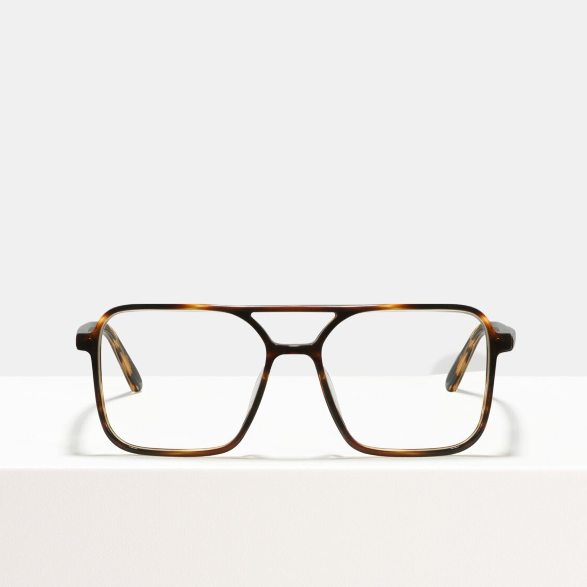 Ace & Tate Glasses | square bio acetate in Brown
