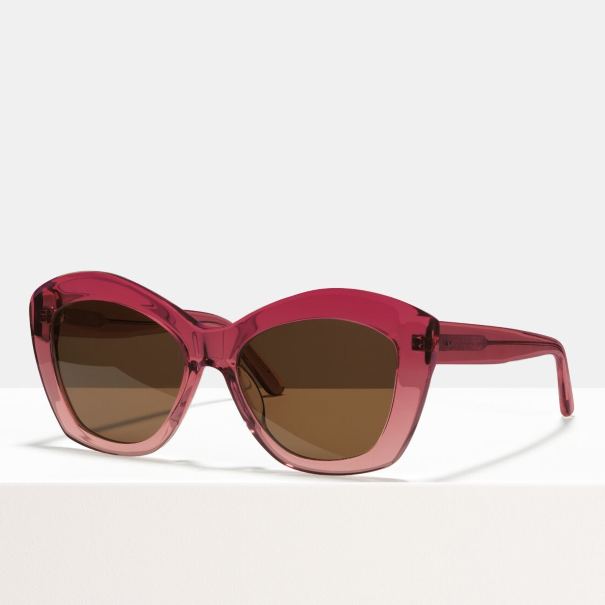 Ace & Tate Sunglasses | round acetate in Pink