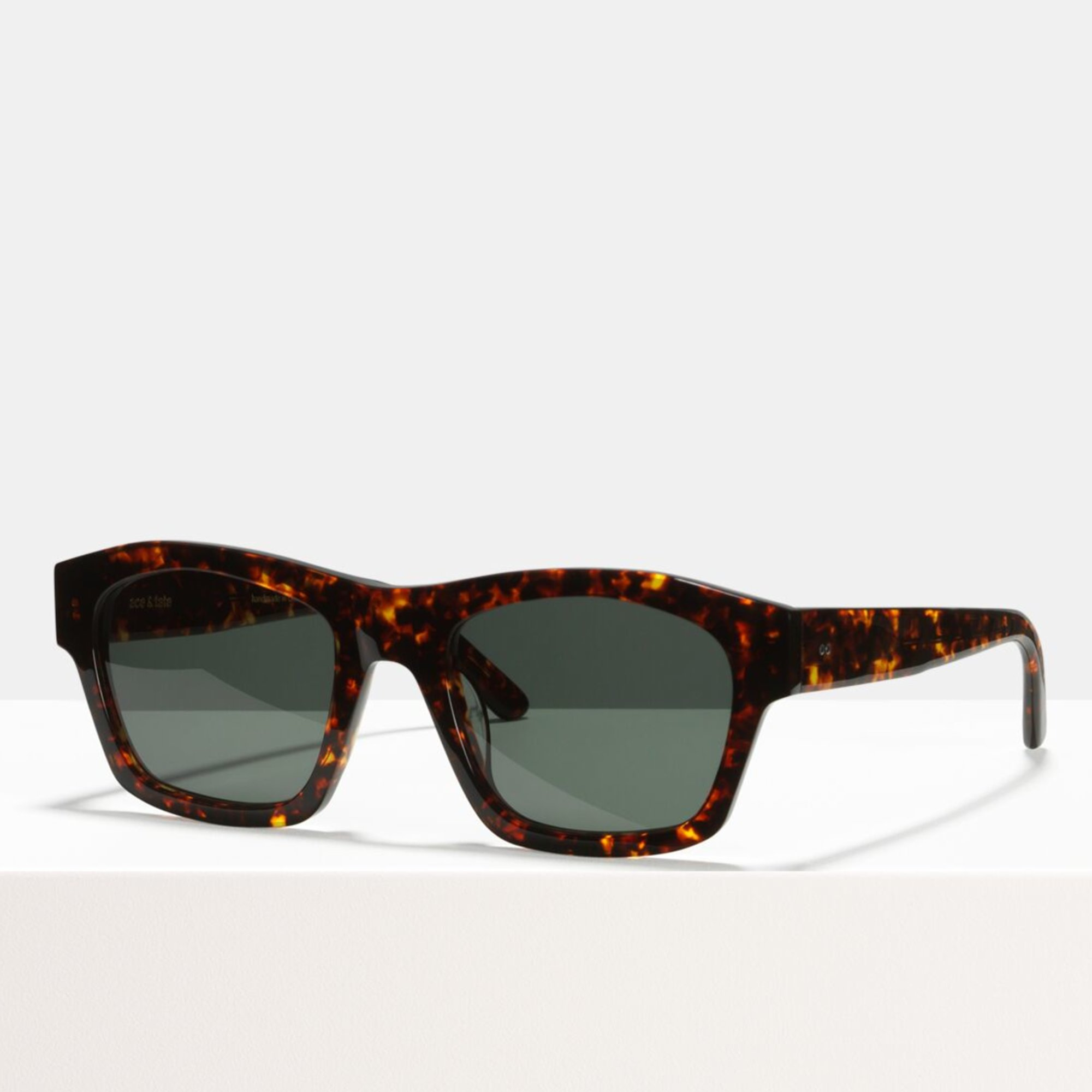 Ace & Tate Sunglasses | rectangle acetate in Brown