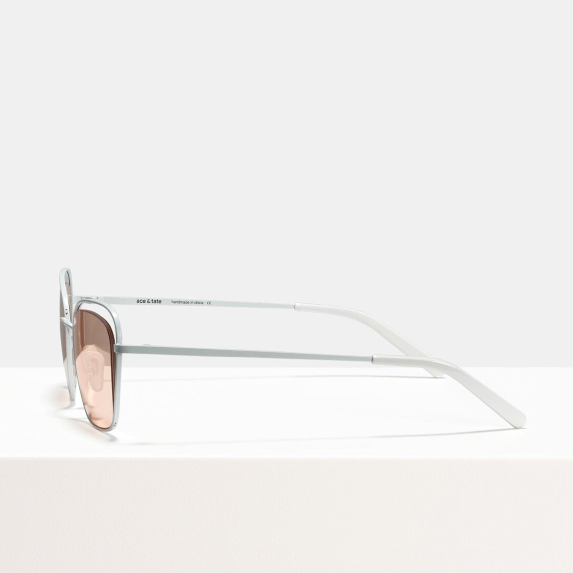 Ace & Tate Sunglasses   square metal in Pink, White