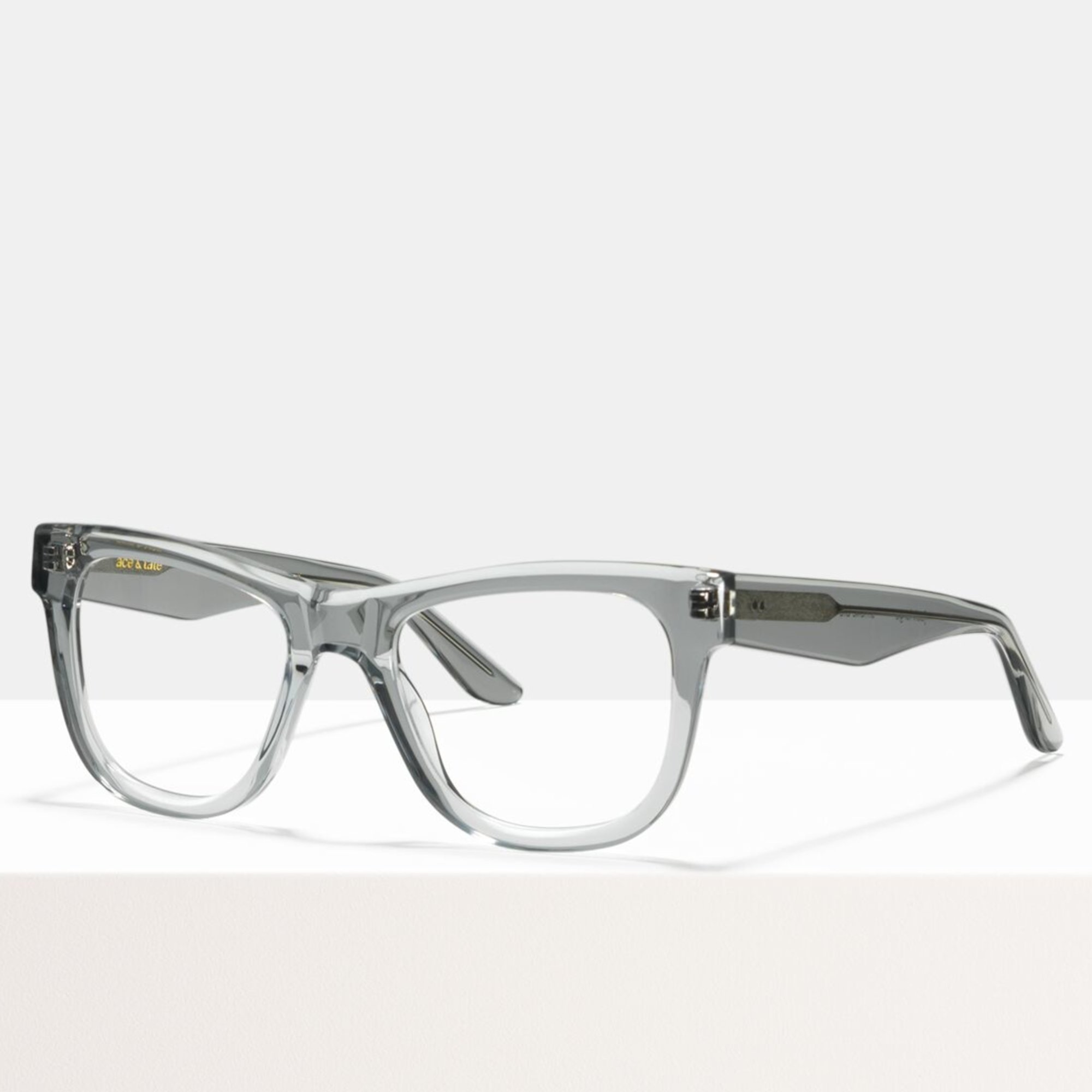Ace & Tate Glasses | rectangle acetate in Clear