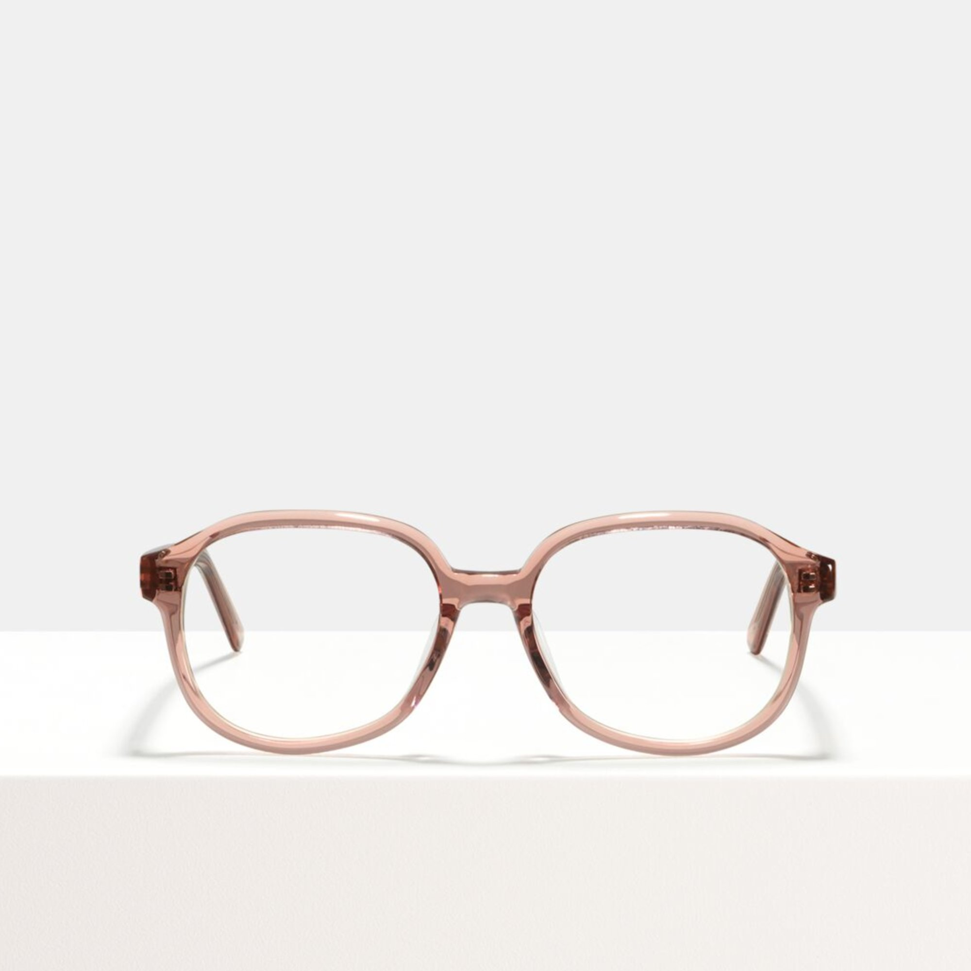Ace & Tate Glasses | rectangle acetate in Clear, Pink