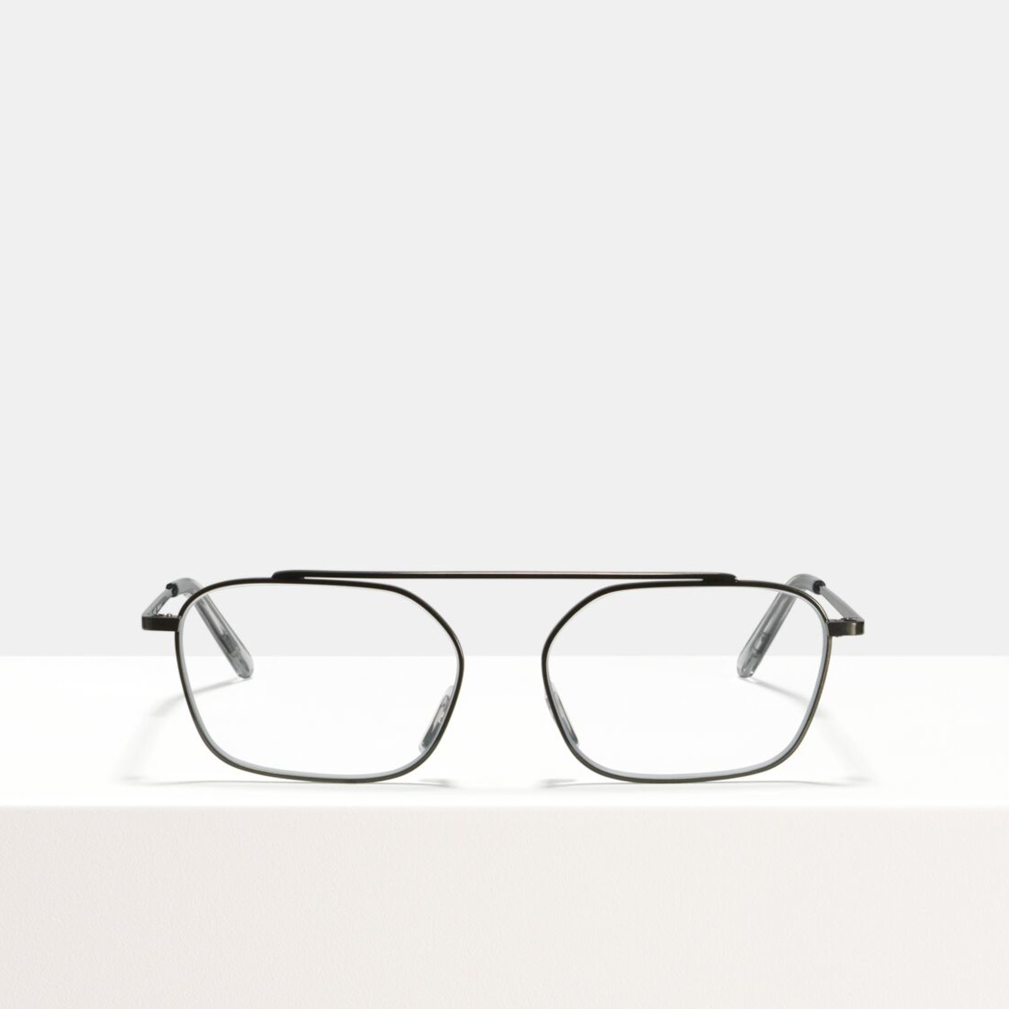 Ace & Tate Glasses | rectangle metal in Grey, Silver