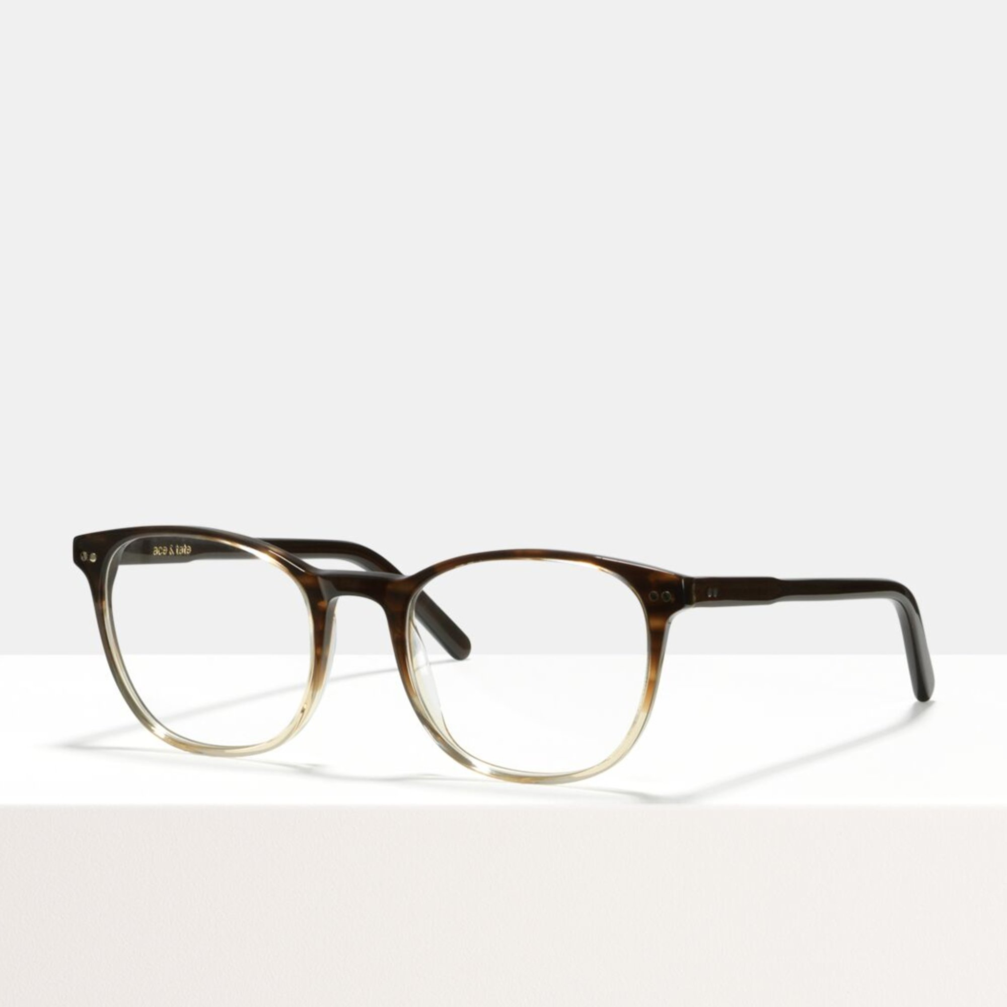 Ace & Tate Glasses | square acetate in Beige, Brown, Gold, Grey