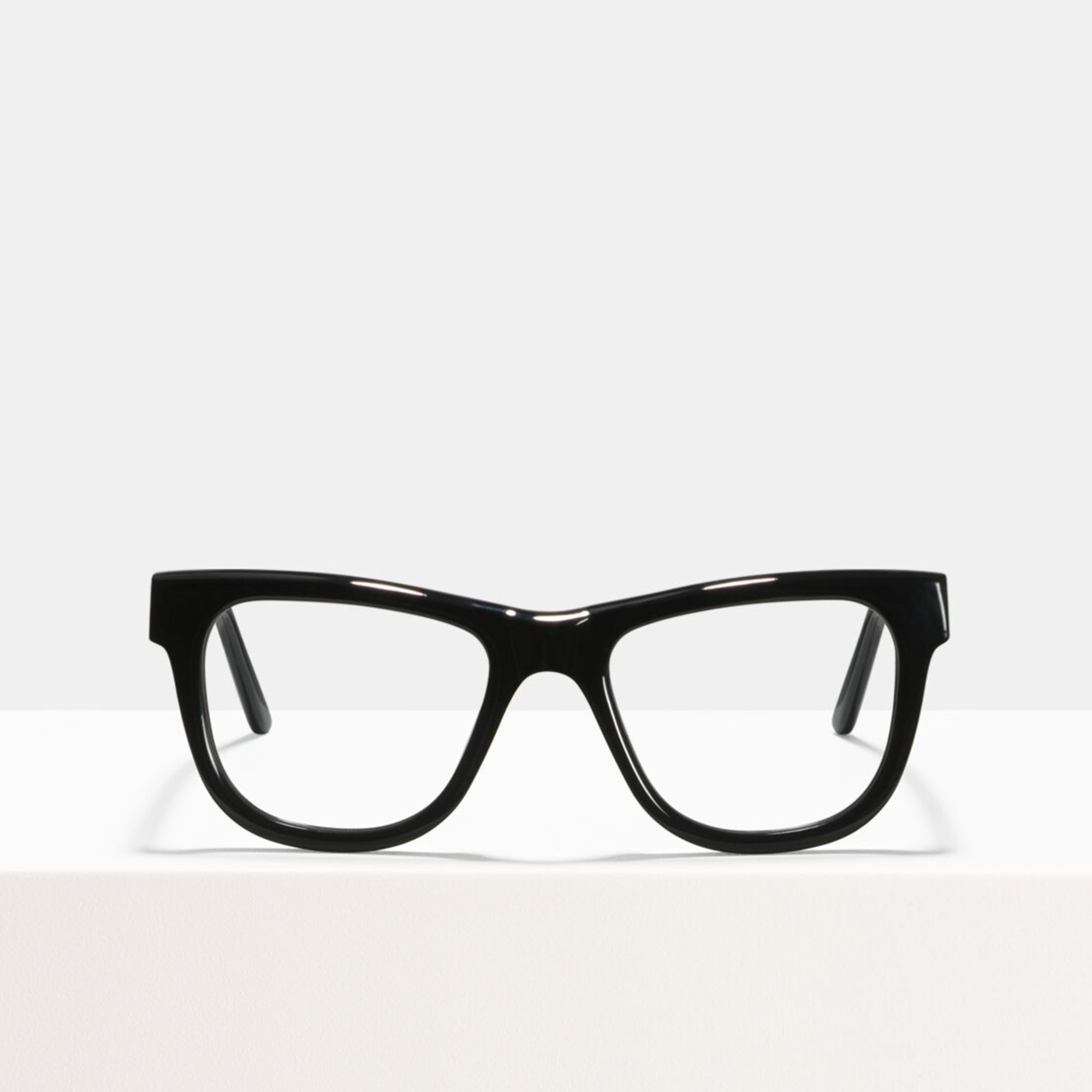 Ace & Tate Glasses | rectangulaire acétate in Noir