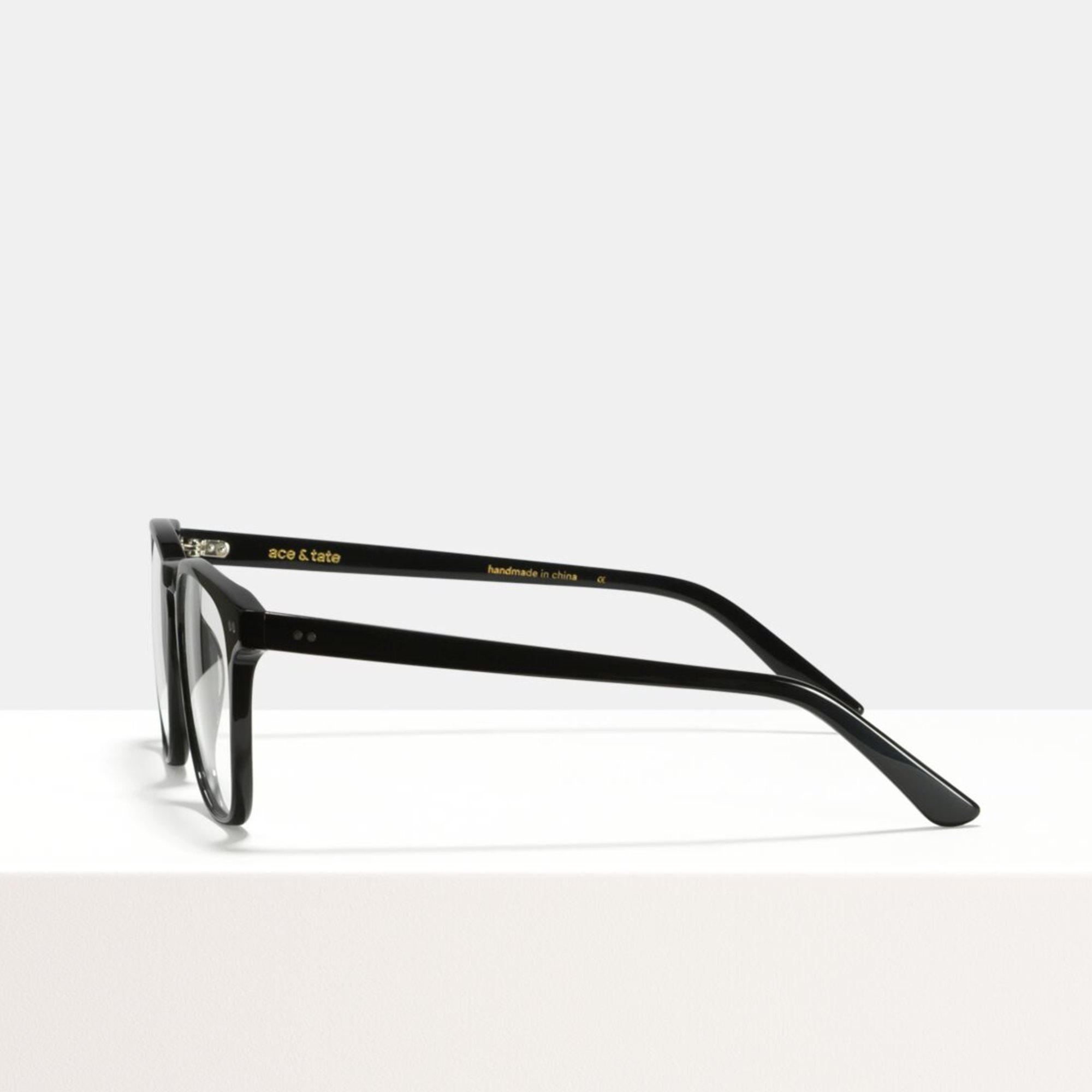 Ace & Tate Glasses | quadratisch Acetat in Schwarz