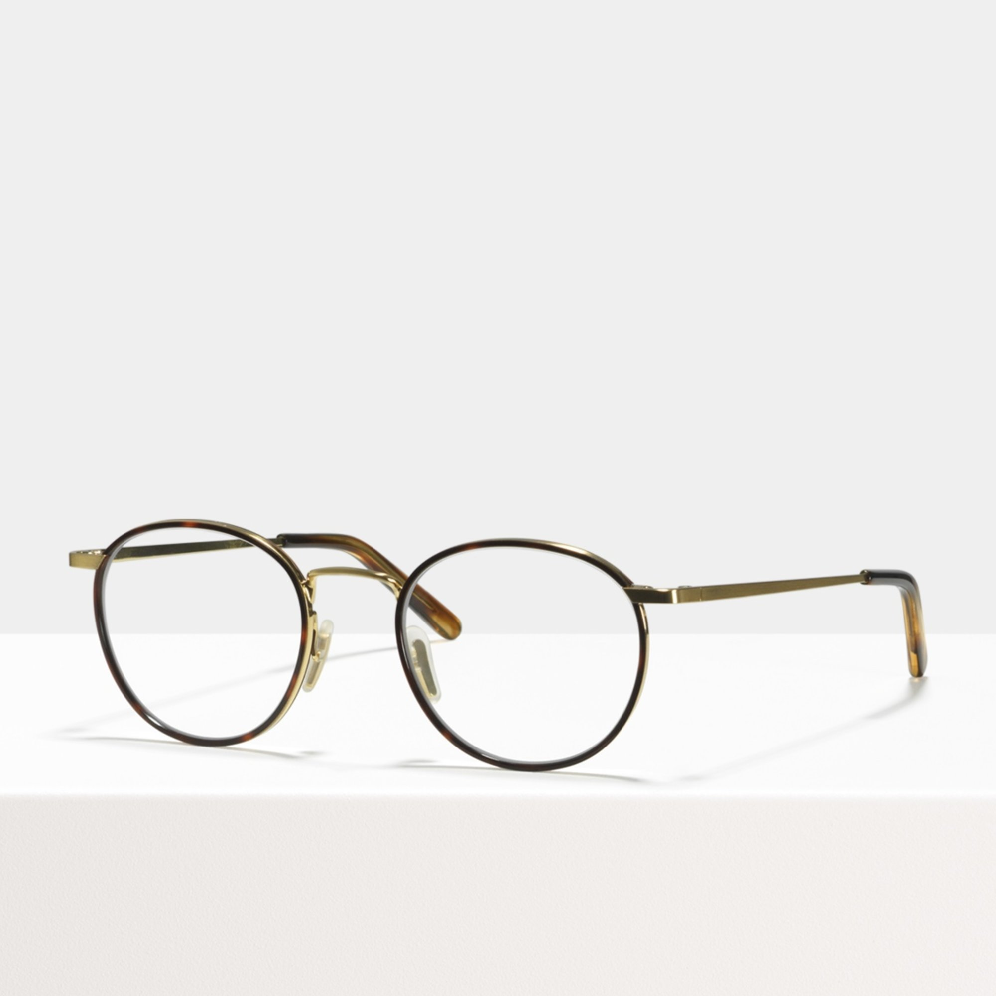 Ace & Tate Glasses | round metal in Beige, Brown, Gold, tortoise, Yellow