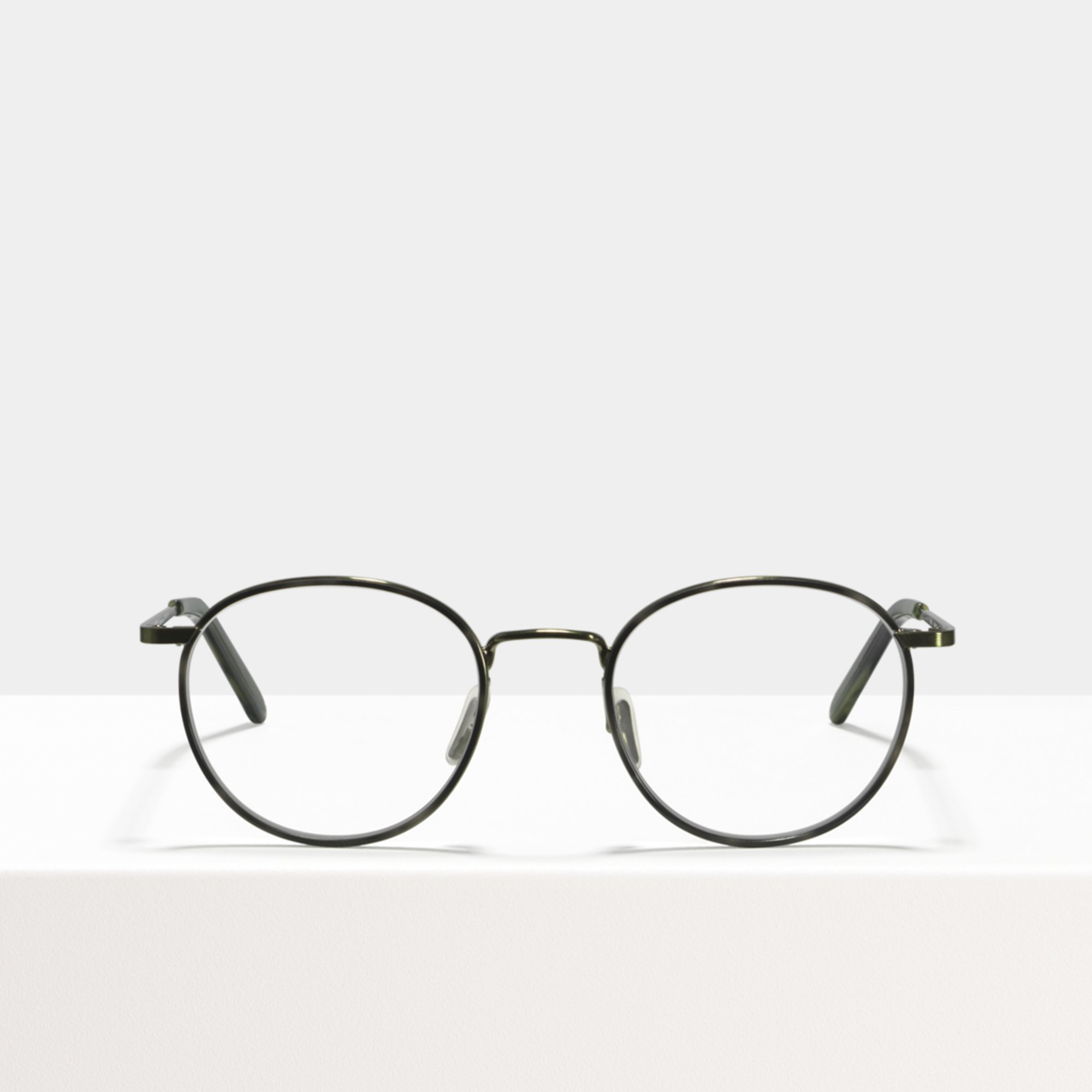 Ace & Tate Glasses | round metal in Green, Grey