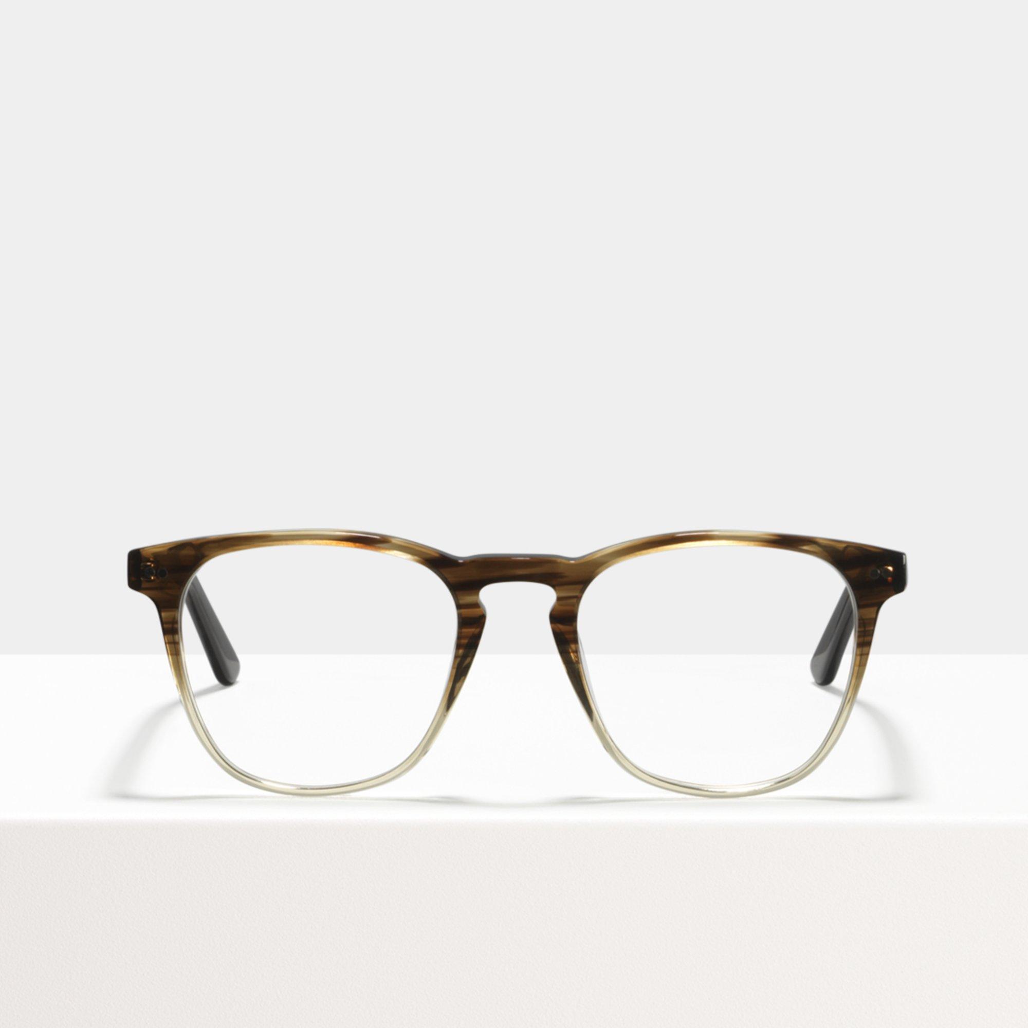 Ace & Tate Glasses | quadratisch Acetat in Braun, Transparent