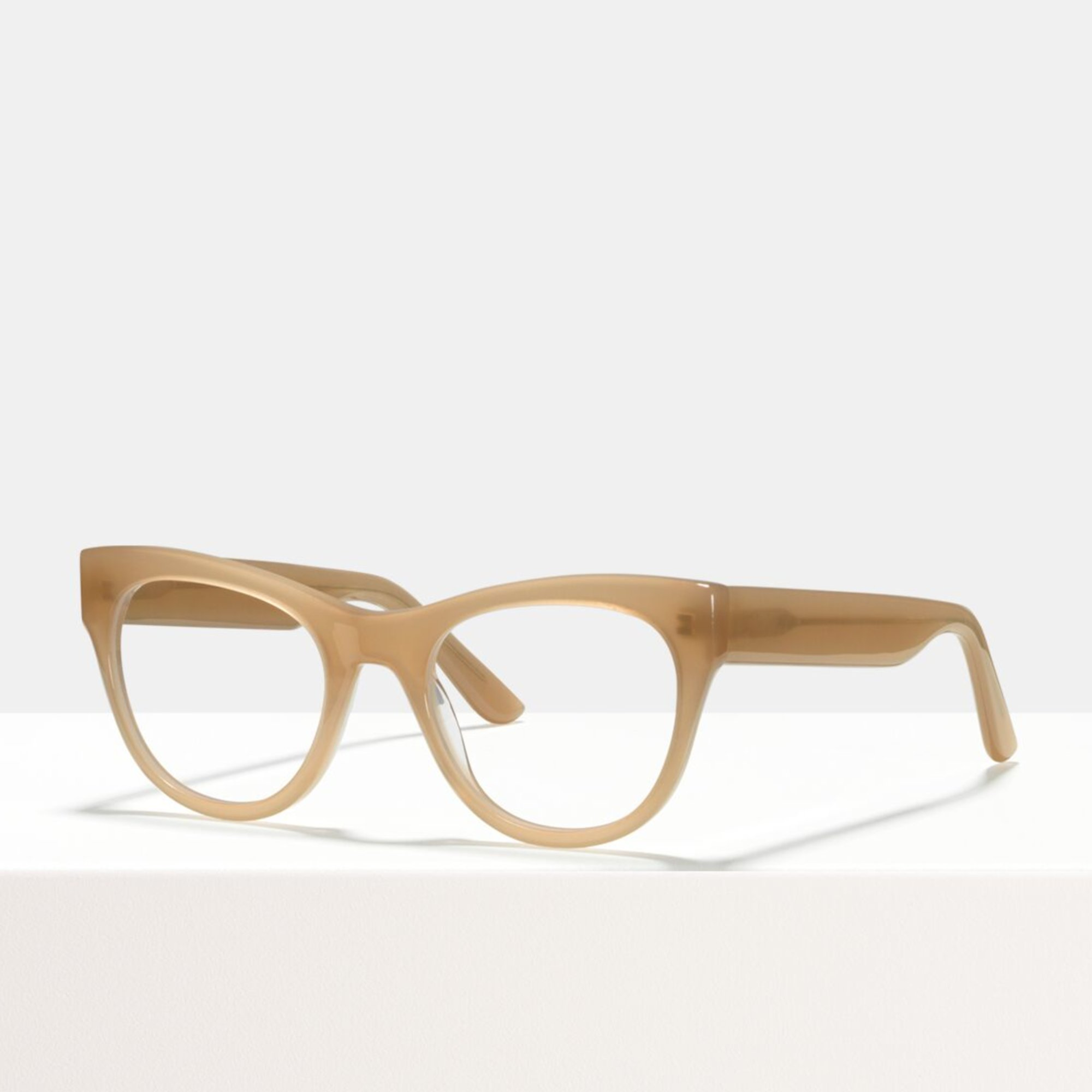 Ace & Tate Glasses   round acetate in Beige