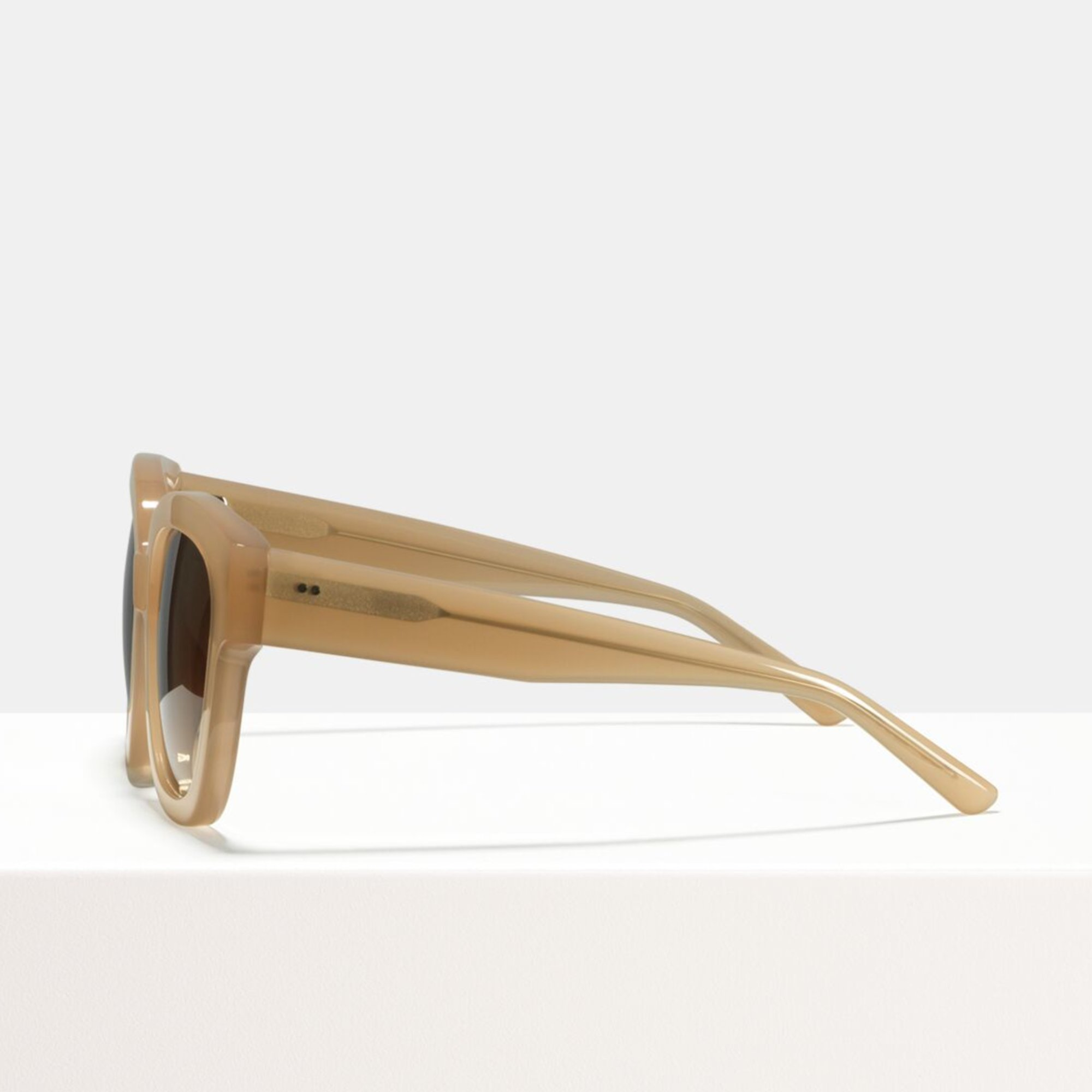 Ace & Tate Sunglasses | square acetate in Beige, Brown, Clear