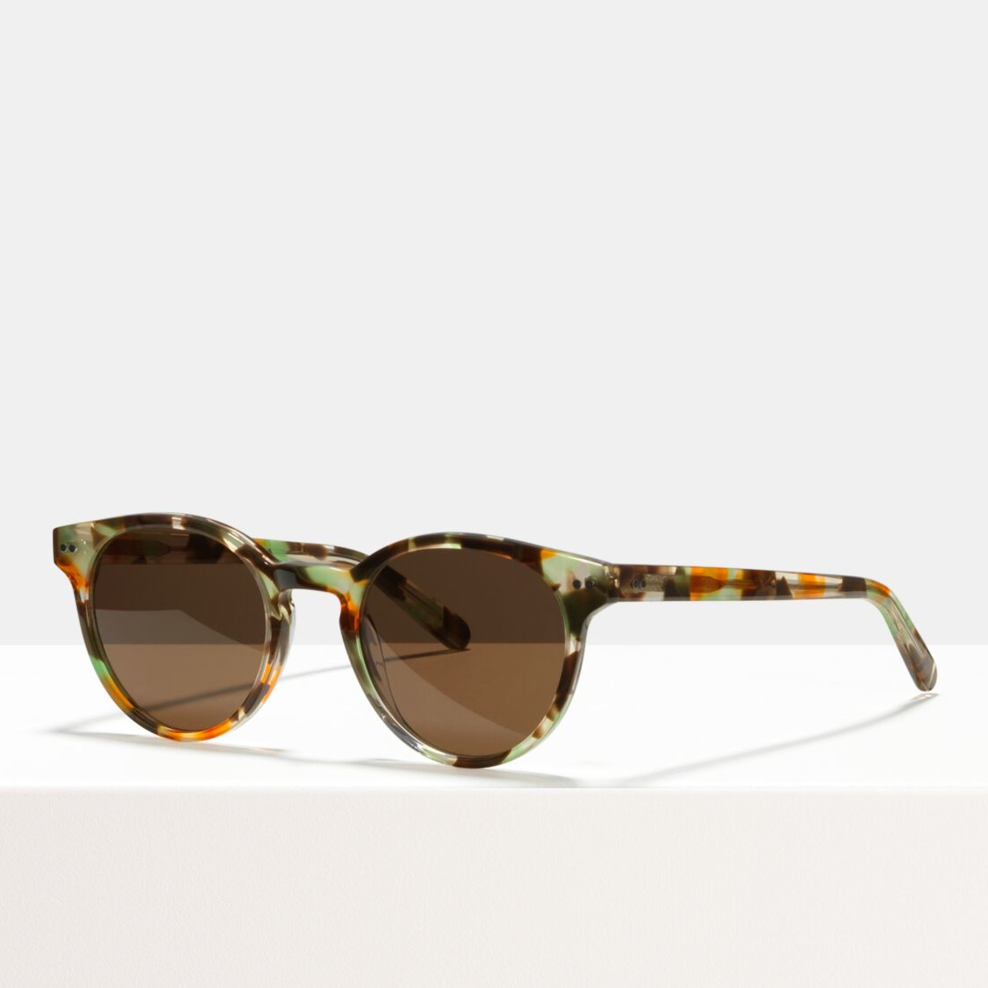 Ace & Tate Sunglasses | rund Acetat in Beige, Braun, Grün, multicolor, Orange, Gelb