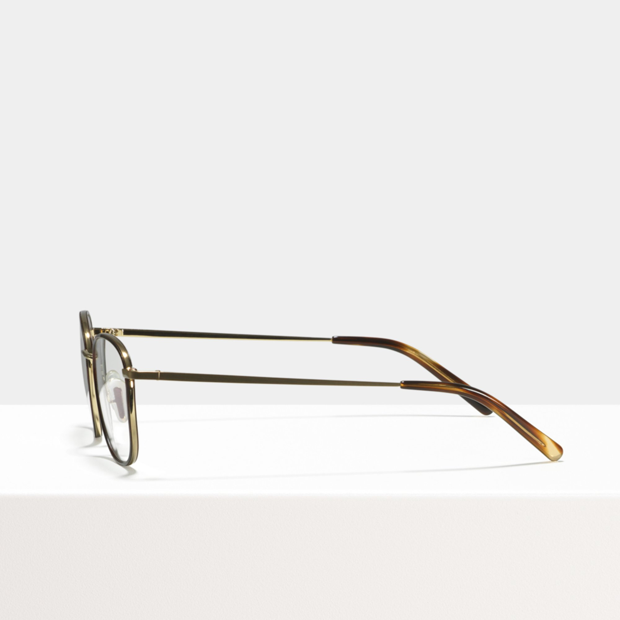 Ace & Tate Glasses | square metal in Brown, Yellow