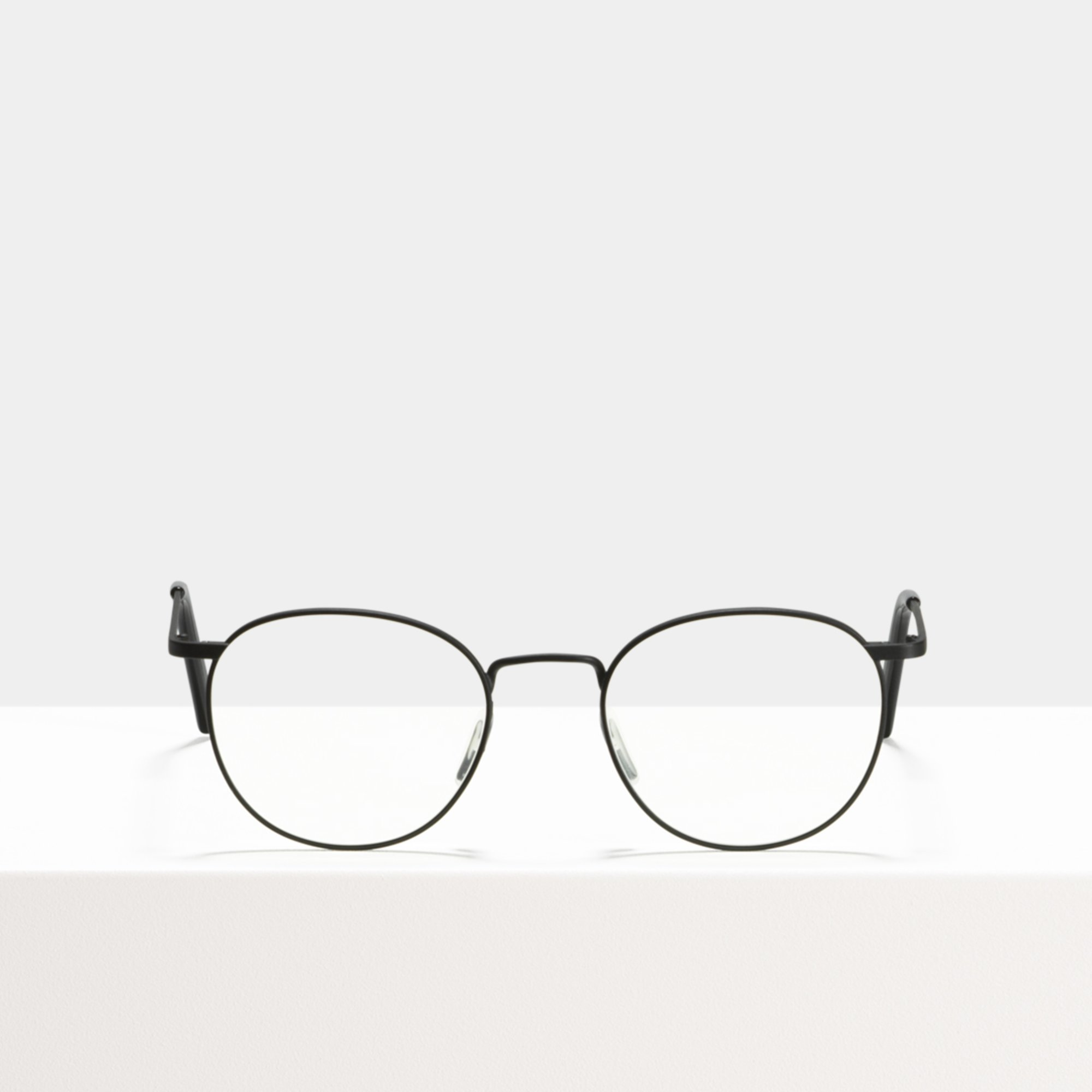 Ace & Tate Glasses | round metal in Black