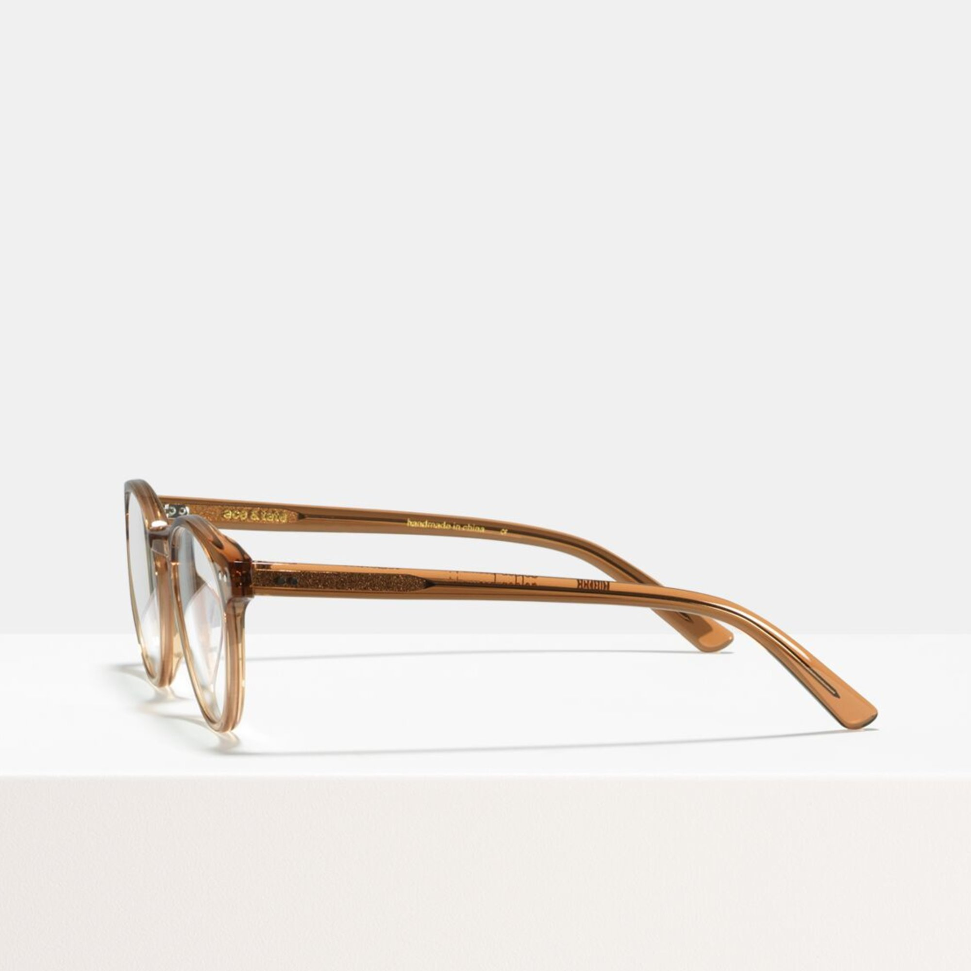 Ace & Tate Glasses   round acetate in Brown