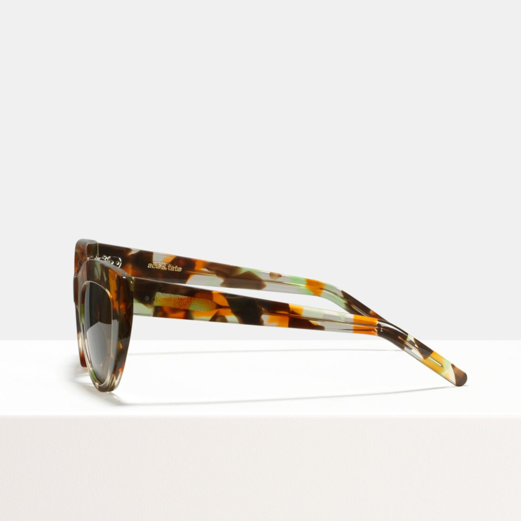 Ace & Tate Sunglasses |  acetate in Brown, Green, Orange