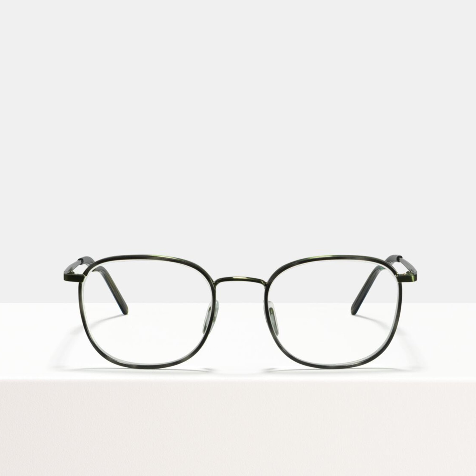 Ace & Tate Glasses | square combi in Beige, Clear, Green, Grey