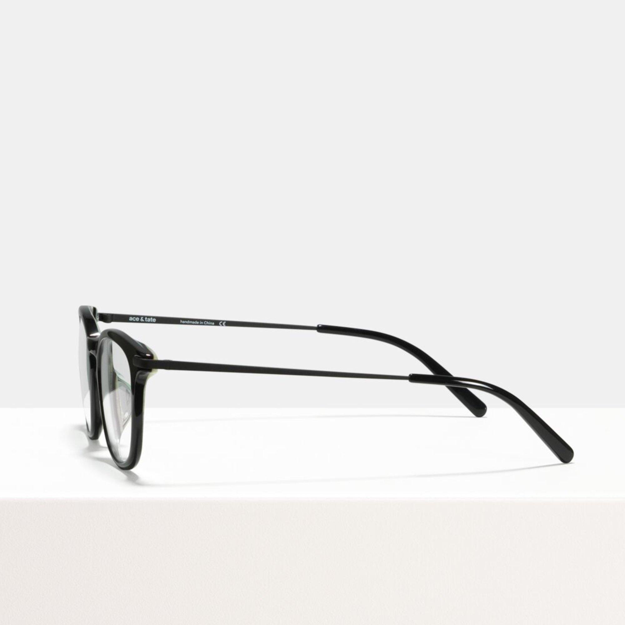 Ace & Tate Glasses   square acetate in Black