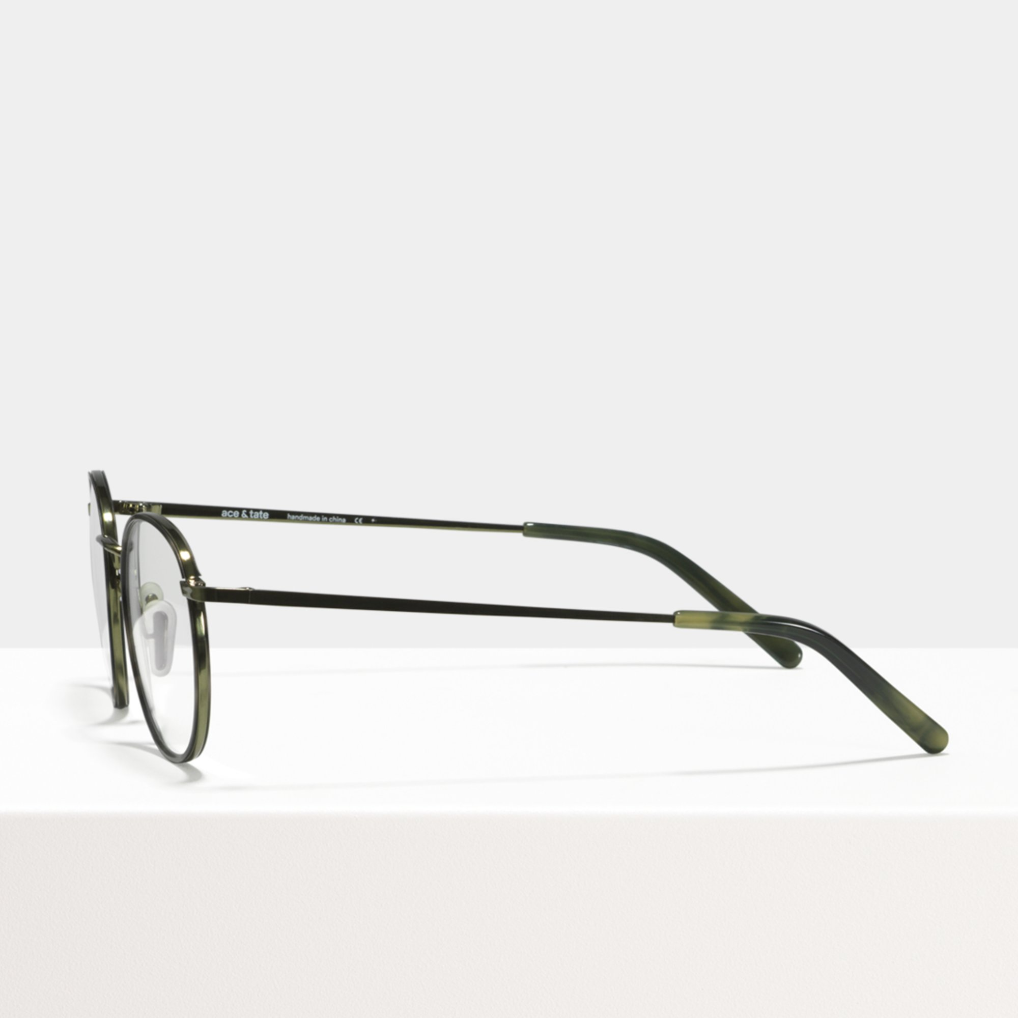 Ace & Tate Glasses   round metal in Green