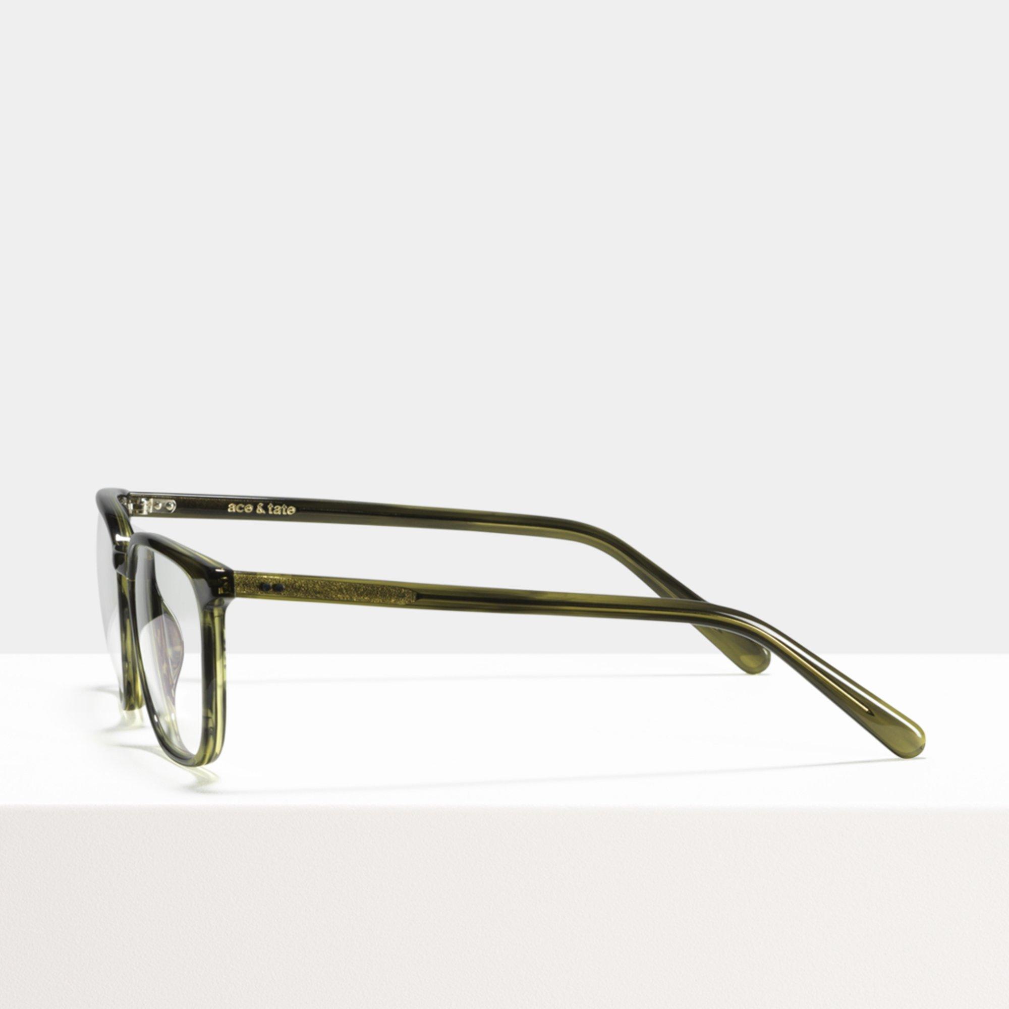 Ace & Tate Glasses | rechteckig Acetat in Grün