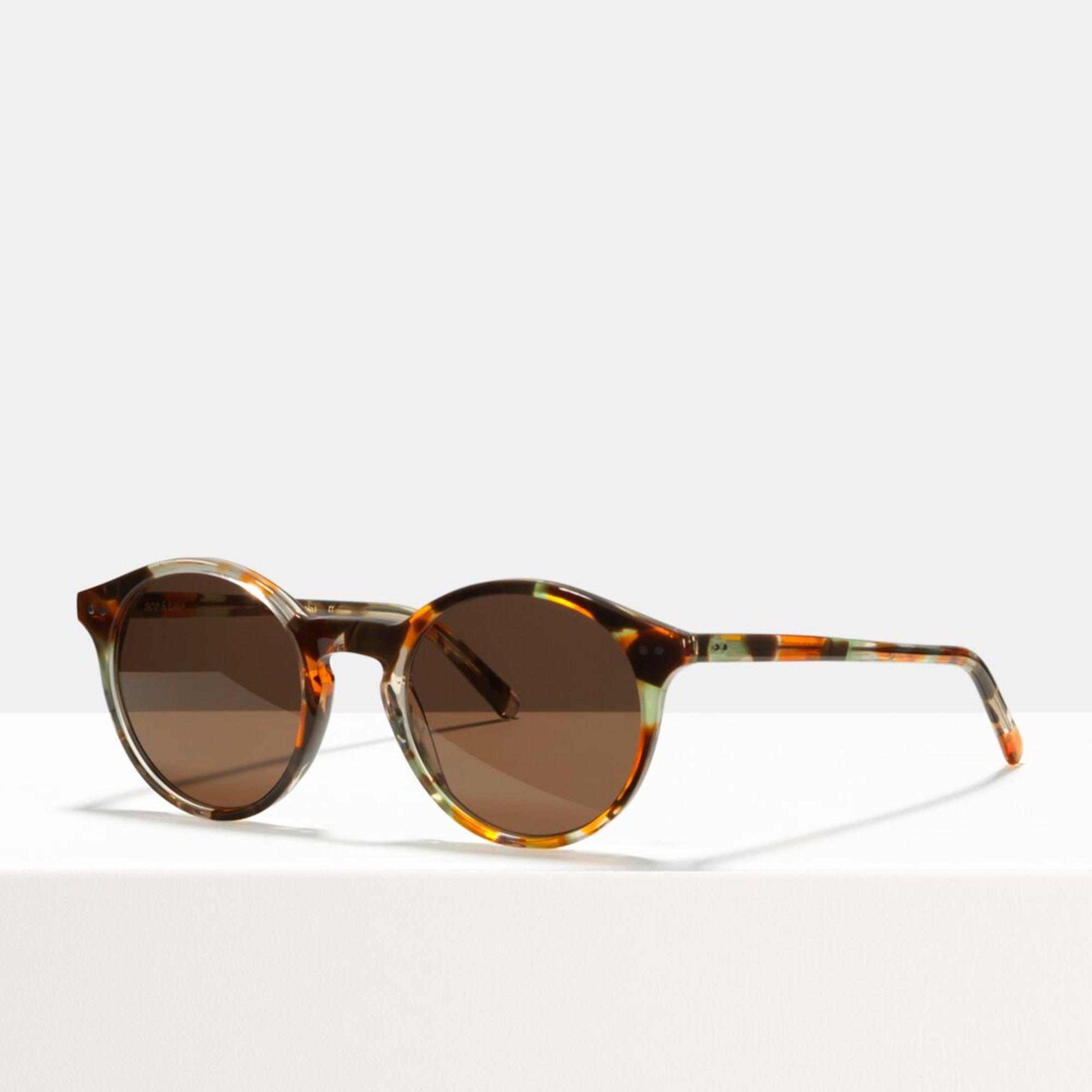 Ace & Tate Sunglasses | round acetate in Brown, Green, Orange