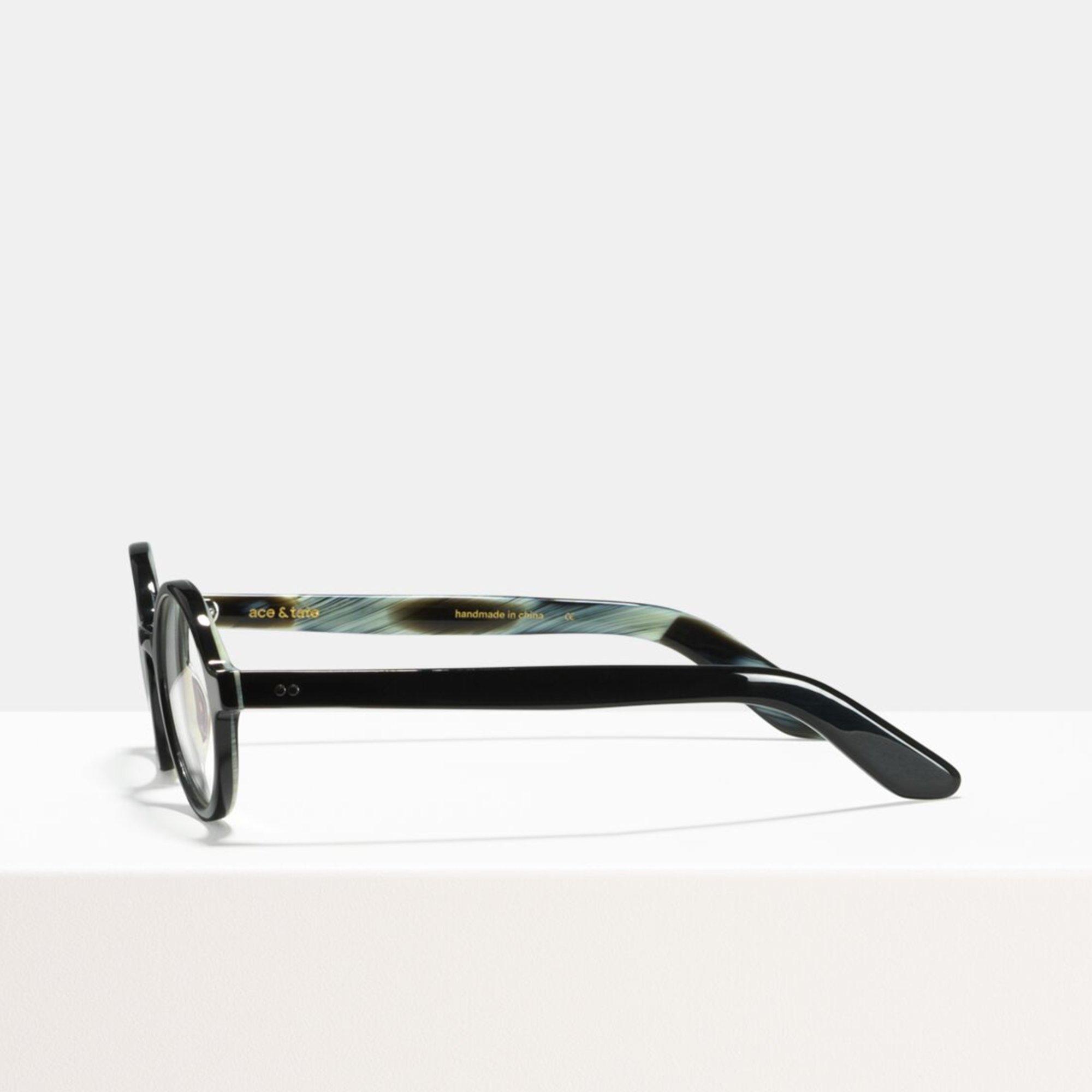 Ace & Tate Glasses | round acetate in Black