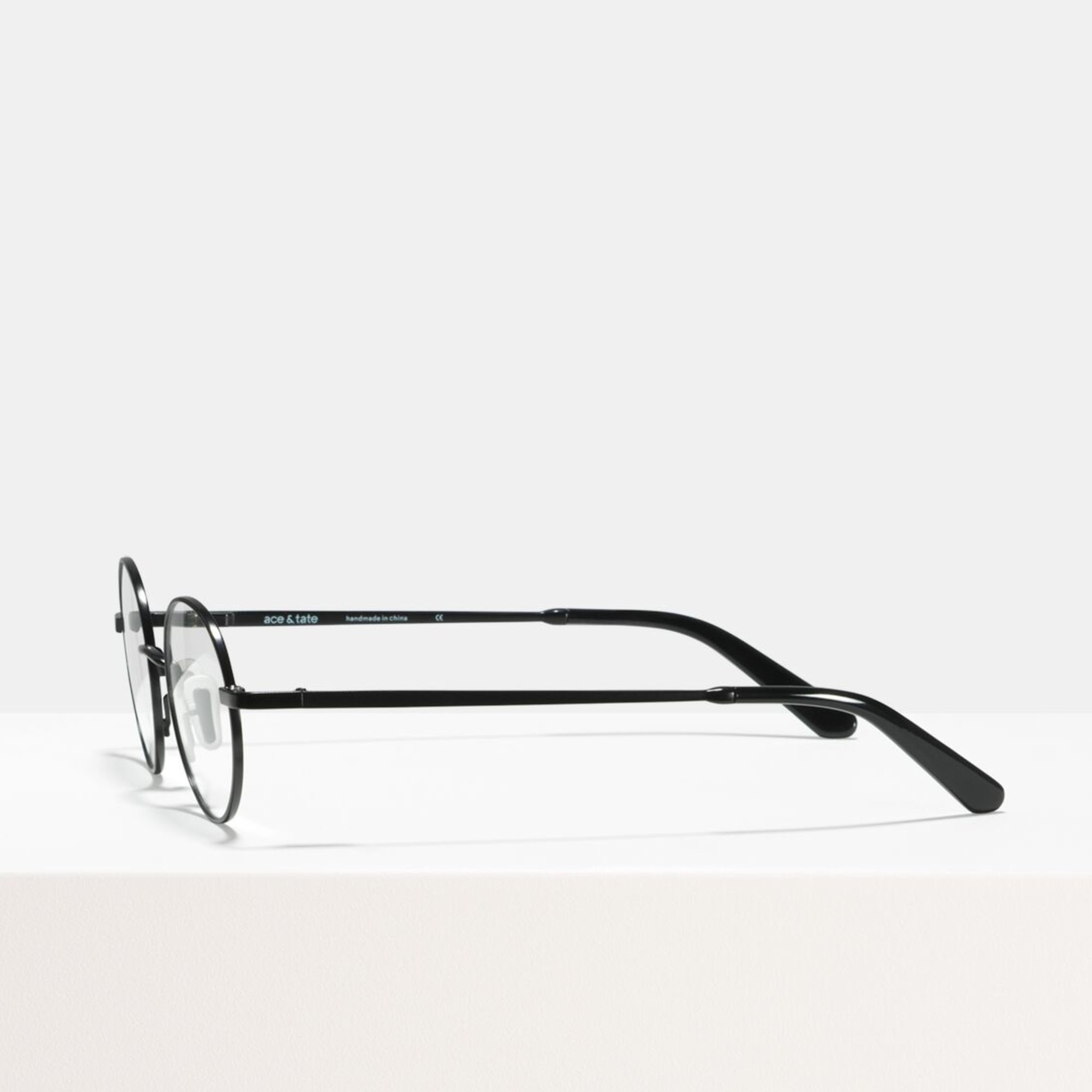 Ace & Tate Glasses   round metal in Black
